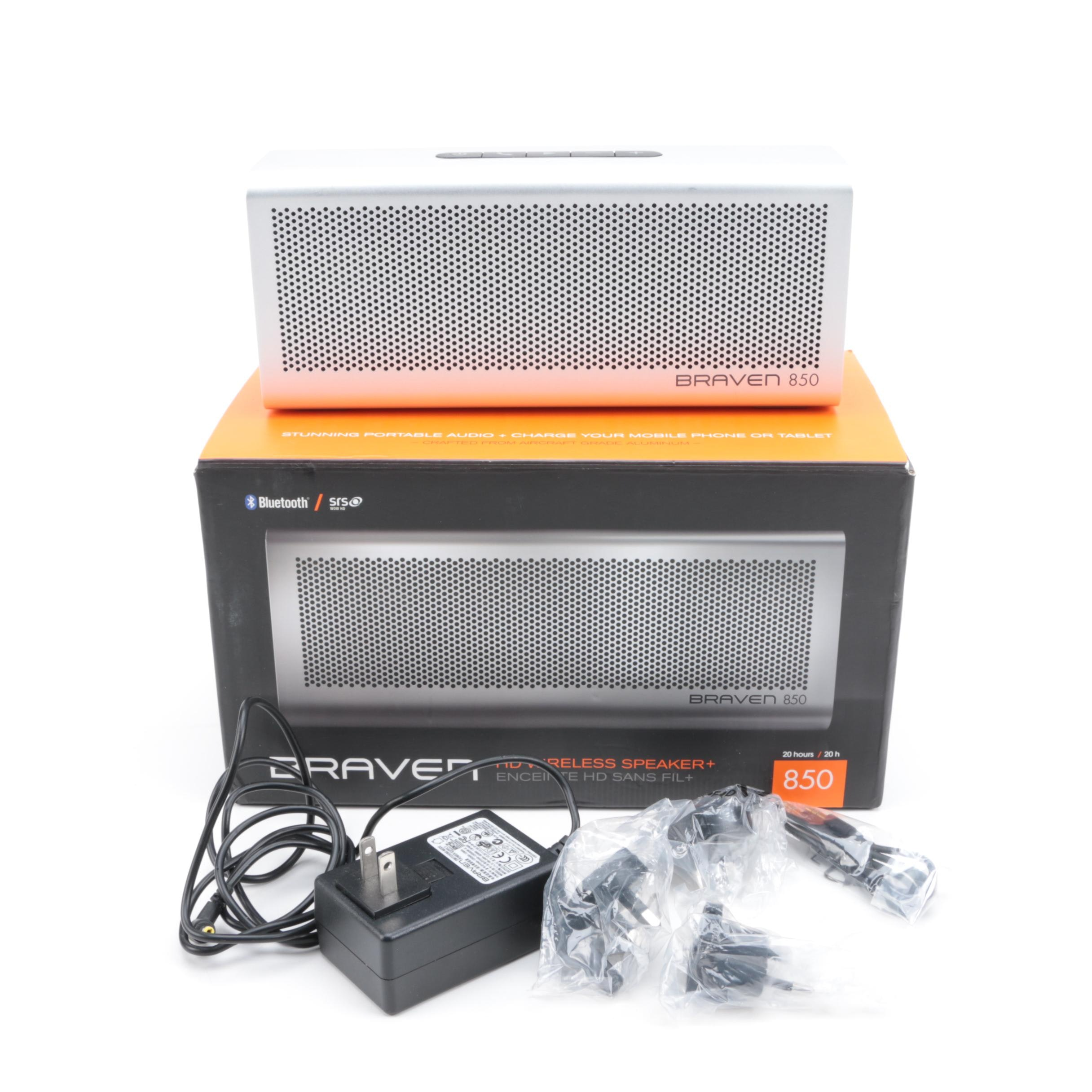 BRAVEN 850 Portable Wireless Bluetooth Speaker and Docking Station