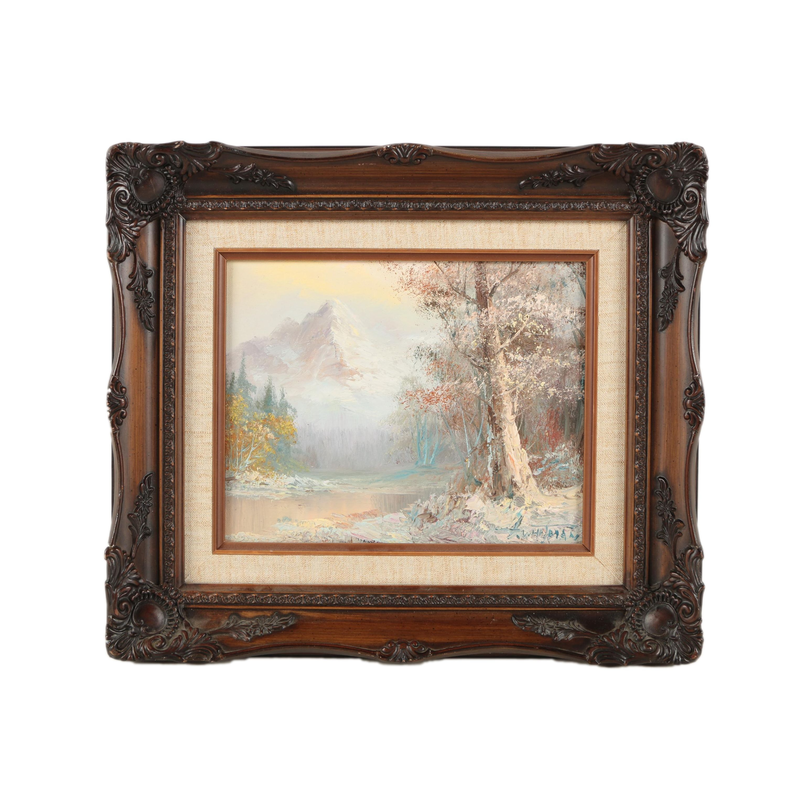 G. Whitman Oil Painting on Canvas Landscape