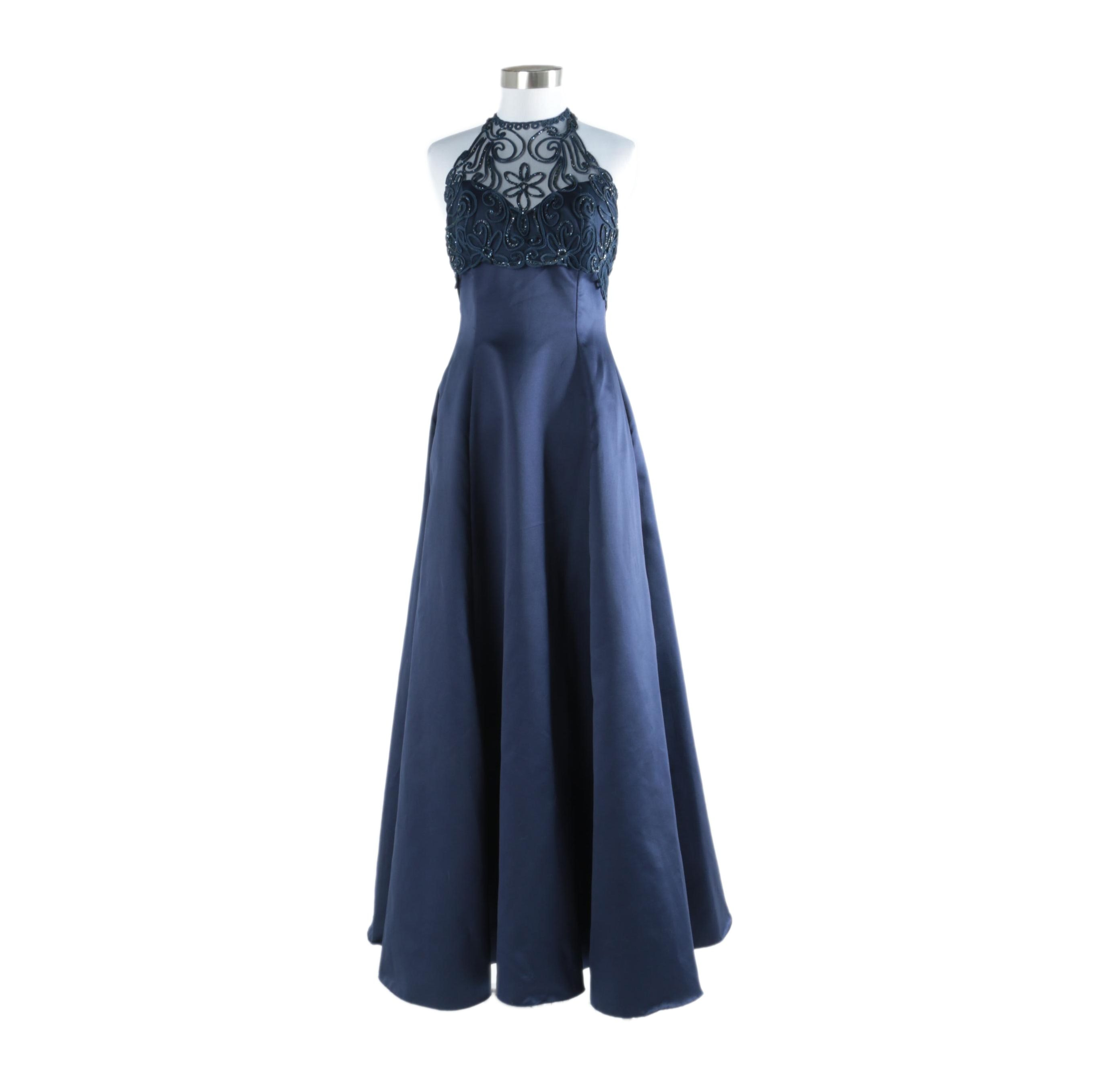 Roberta Occasion Gown with Embellished Bodice