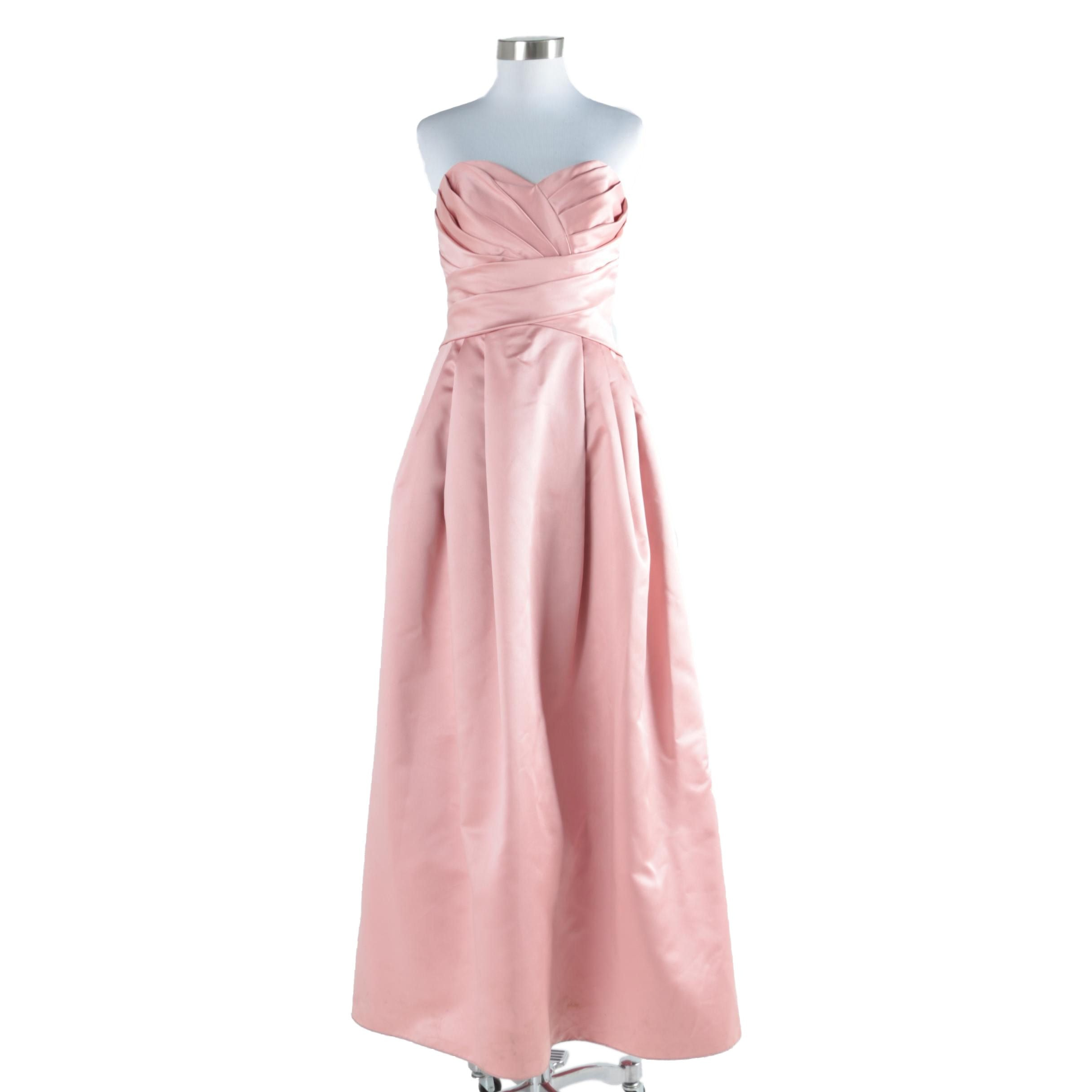 David's Bridal Formal Satin Gown