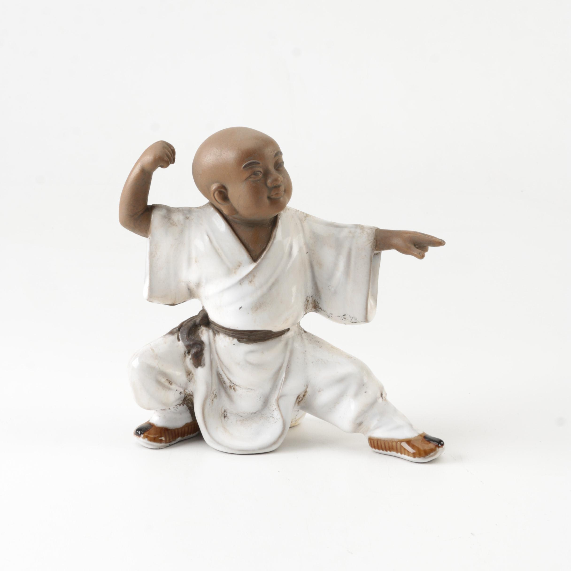 Clay Monk in Martial Arts Stance