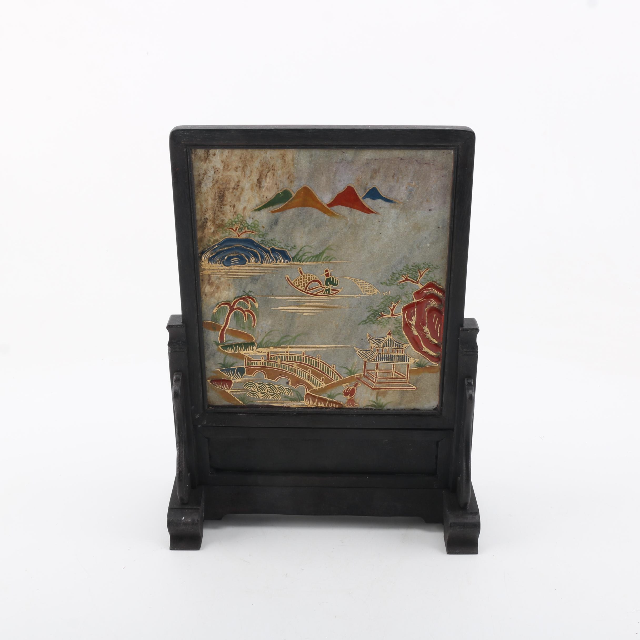 Chinese Painted Table Screen