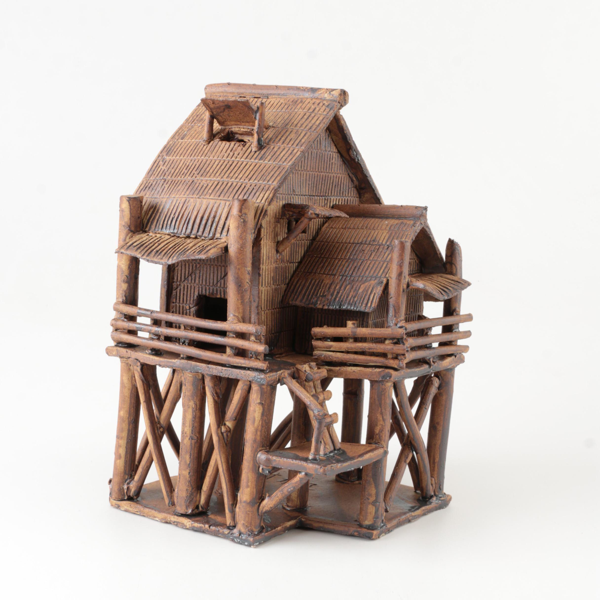 Miniature Wood Hut on Stilts