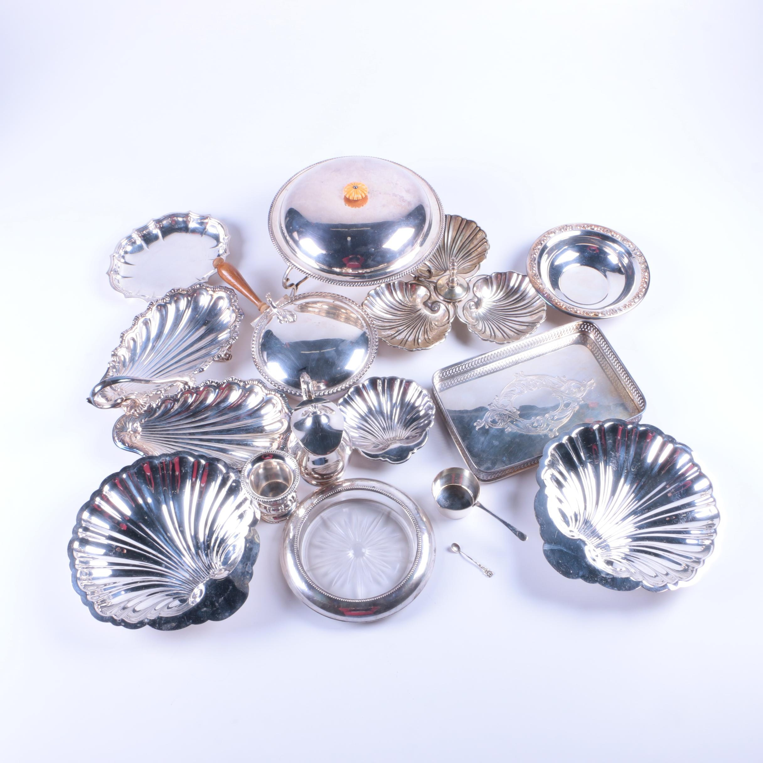 835 Silver Spoon, Frank M. Whiting Sterling and Glass Coaster and More
