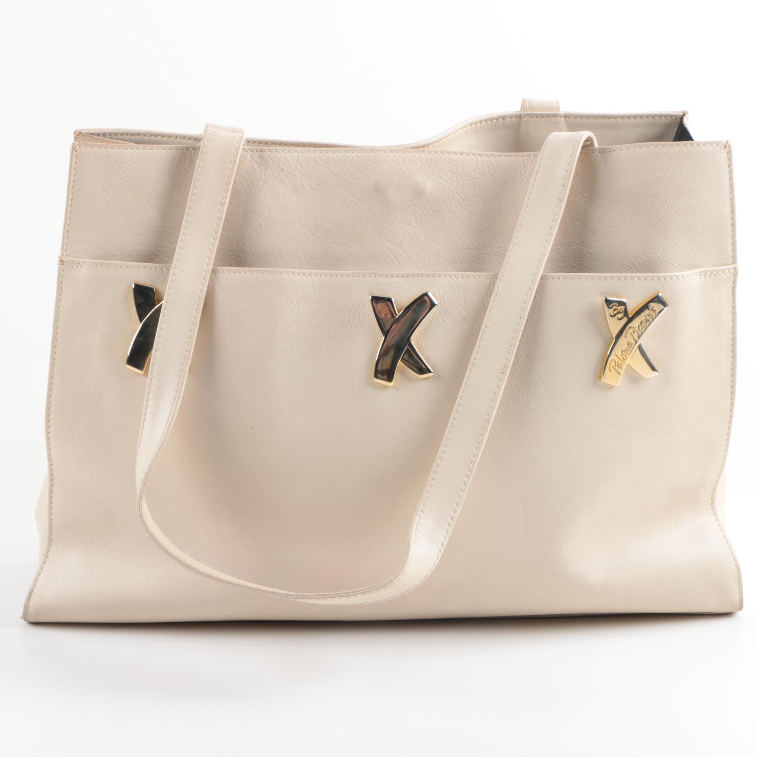 Paloma Picasso Beige Leather Shoulder Bag