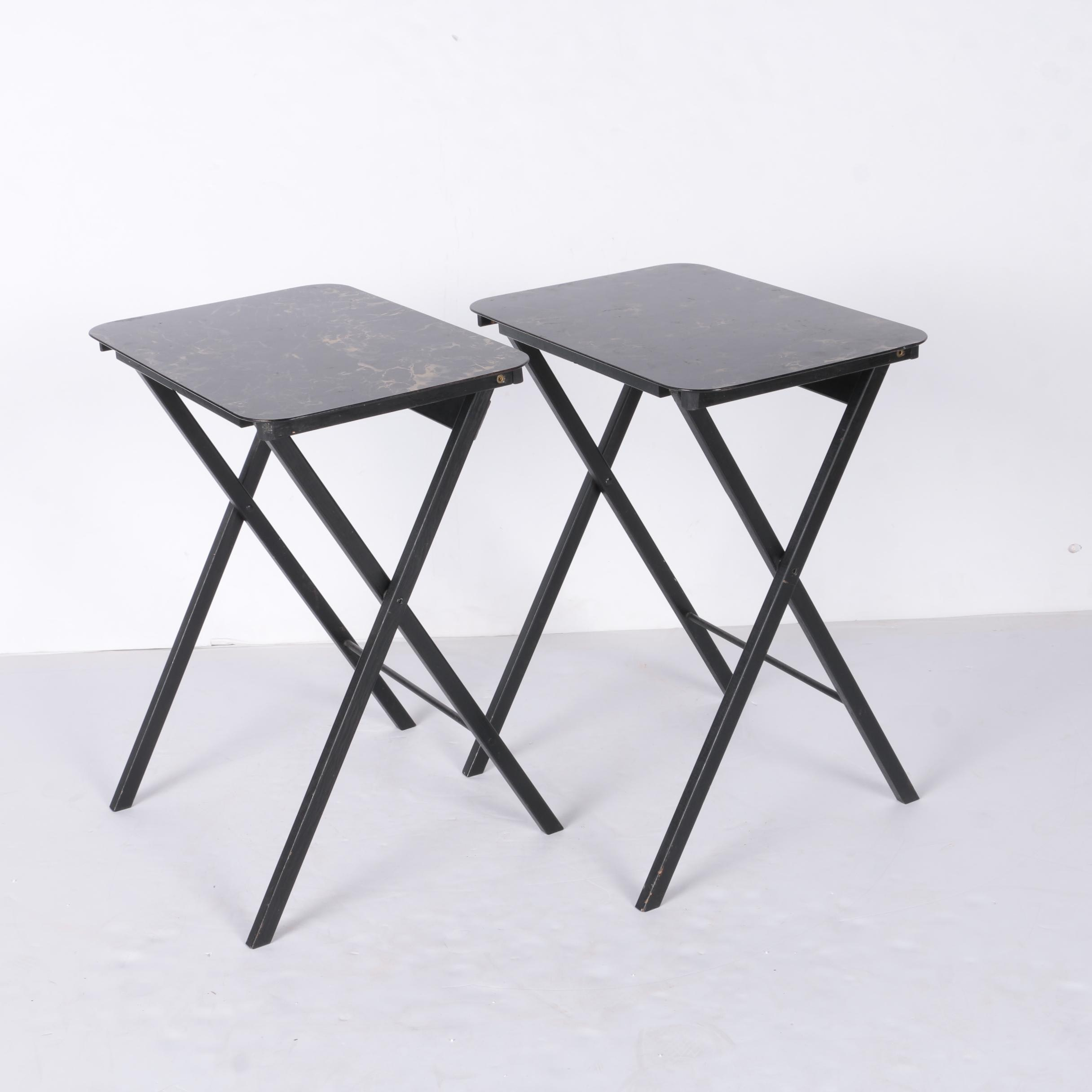 Two Folding Tray Tables