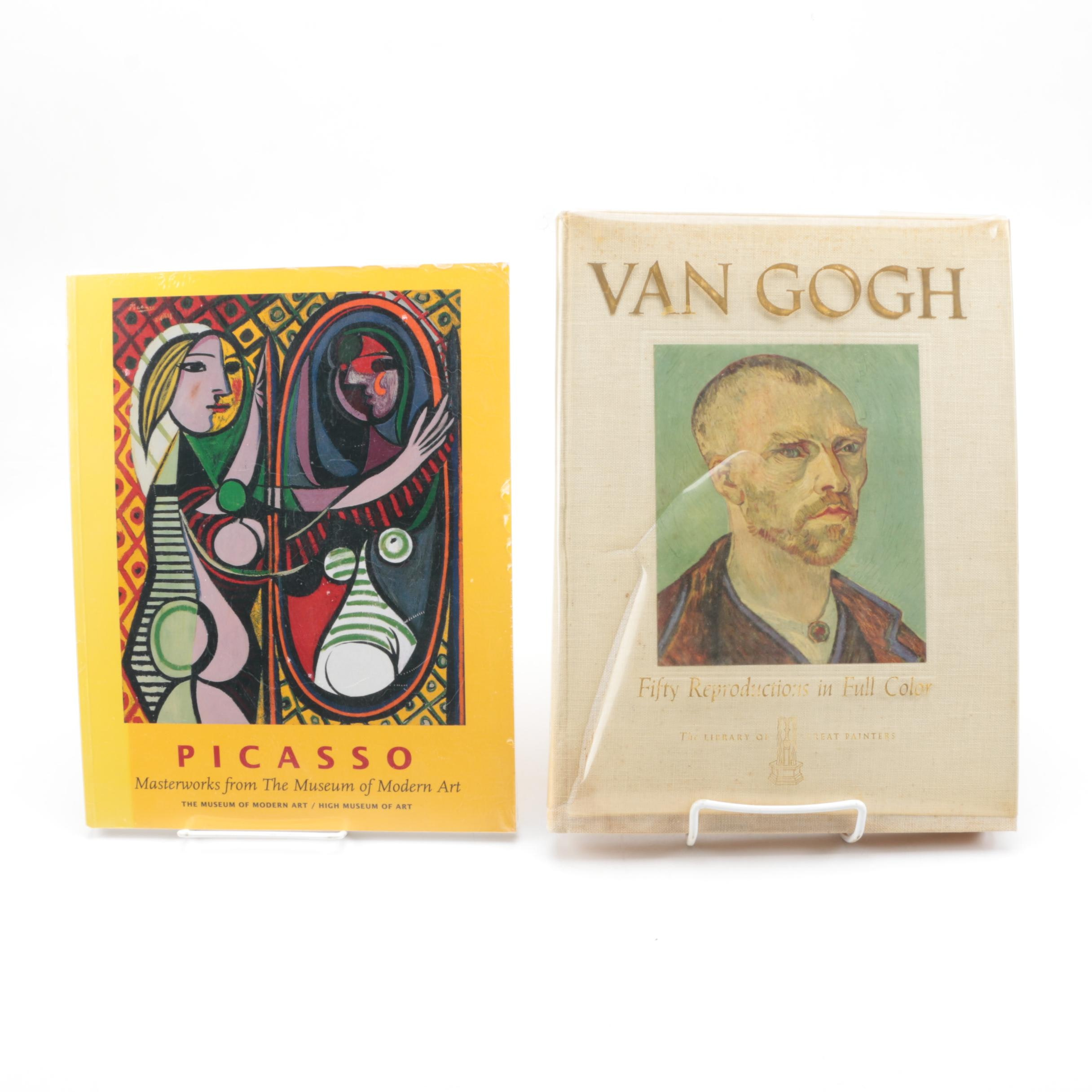 Picasso Exhibit Booklet and Van Gogh Color Reproductions Book