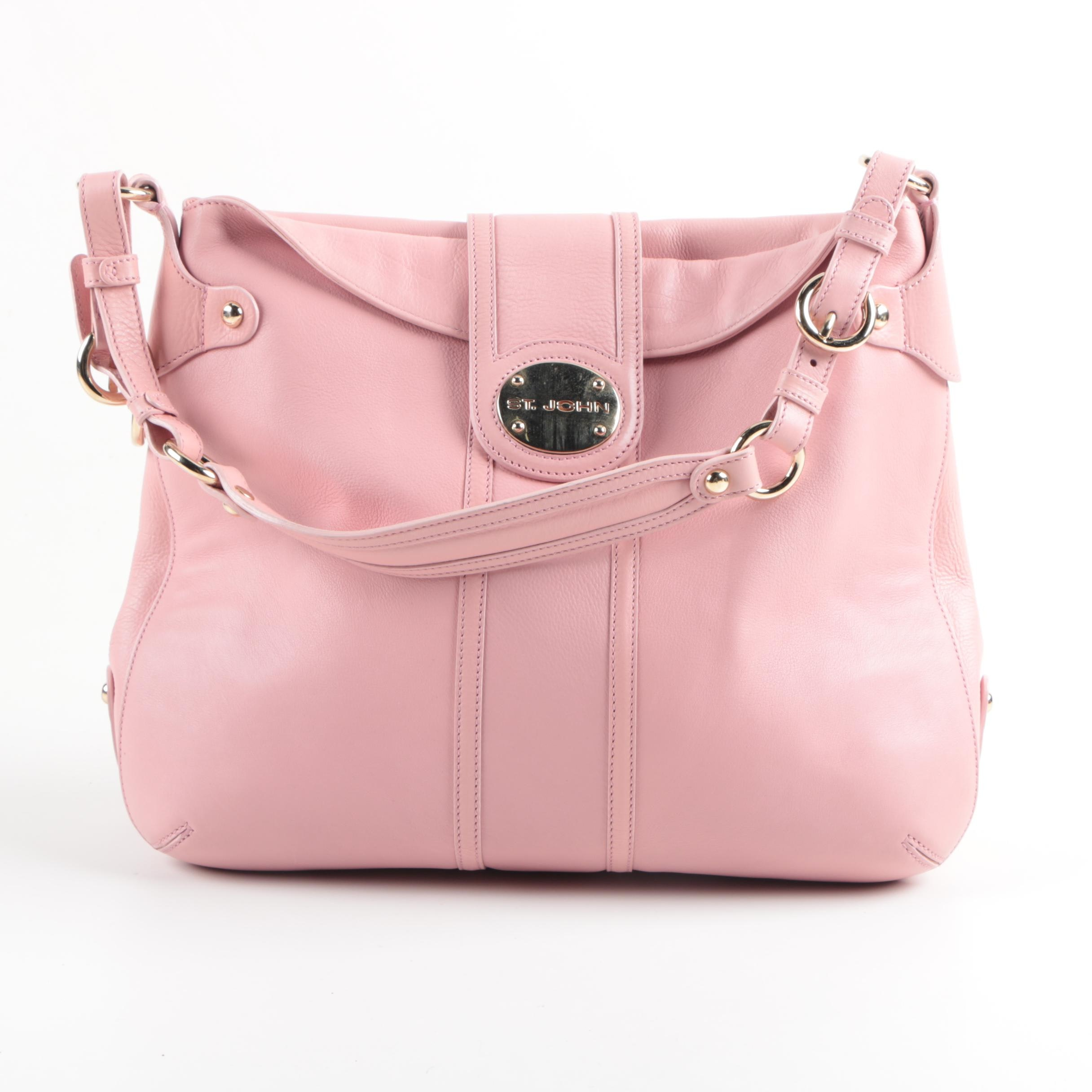 St. John Pink Leather Shoulder Bag