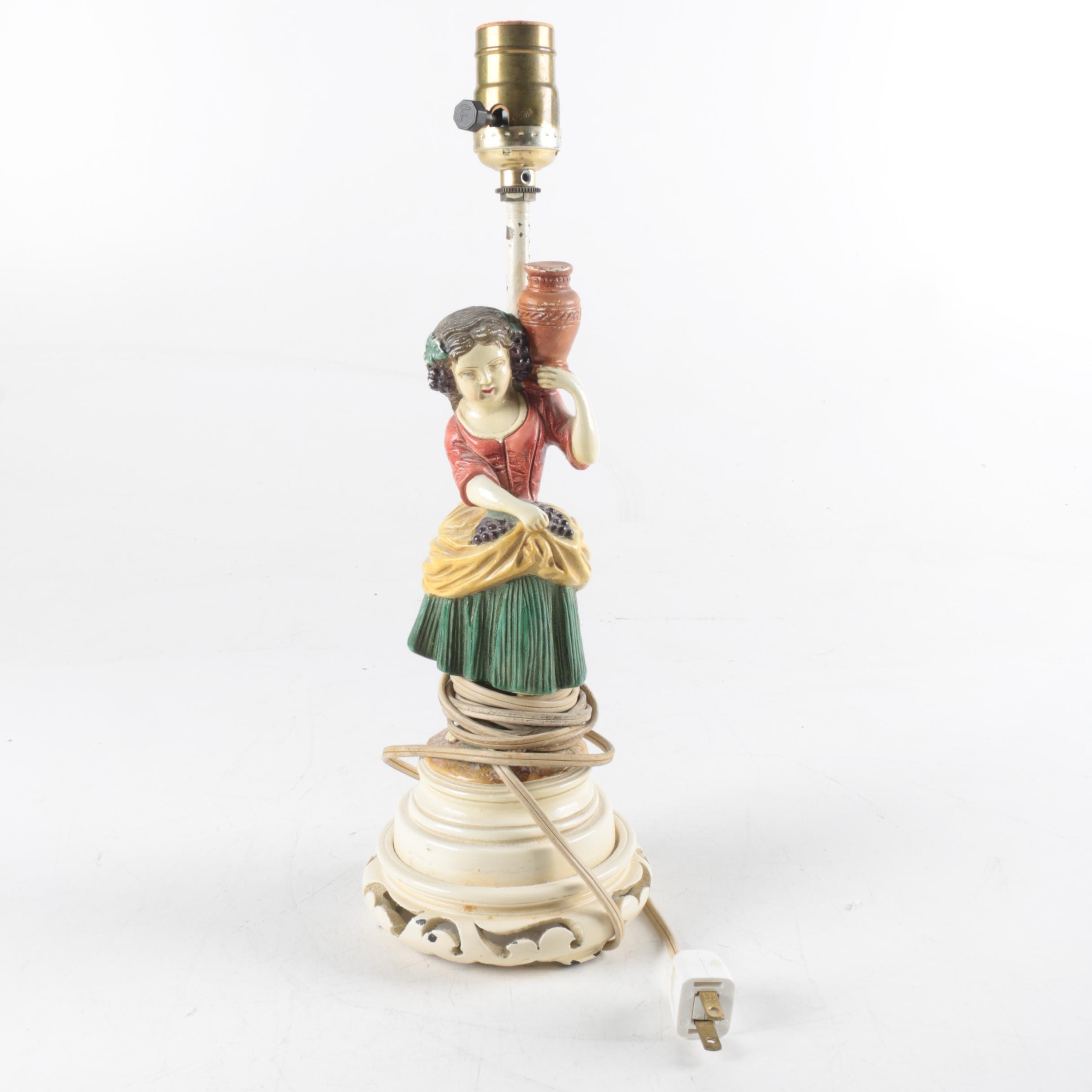 Figural Ceramic Table Lamp