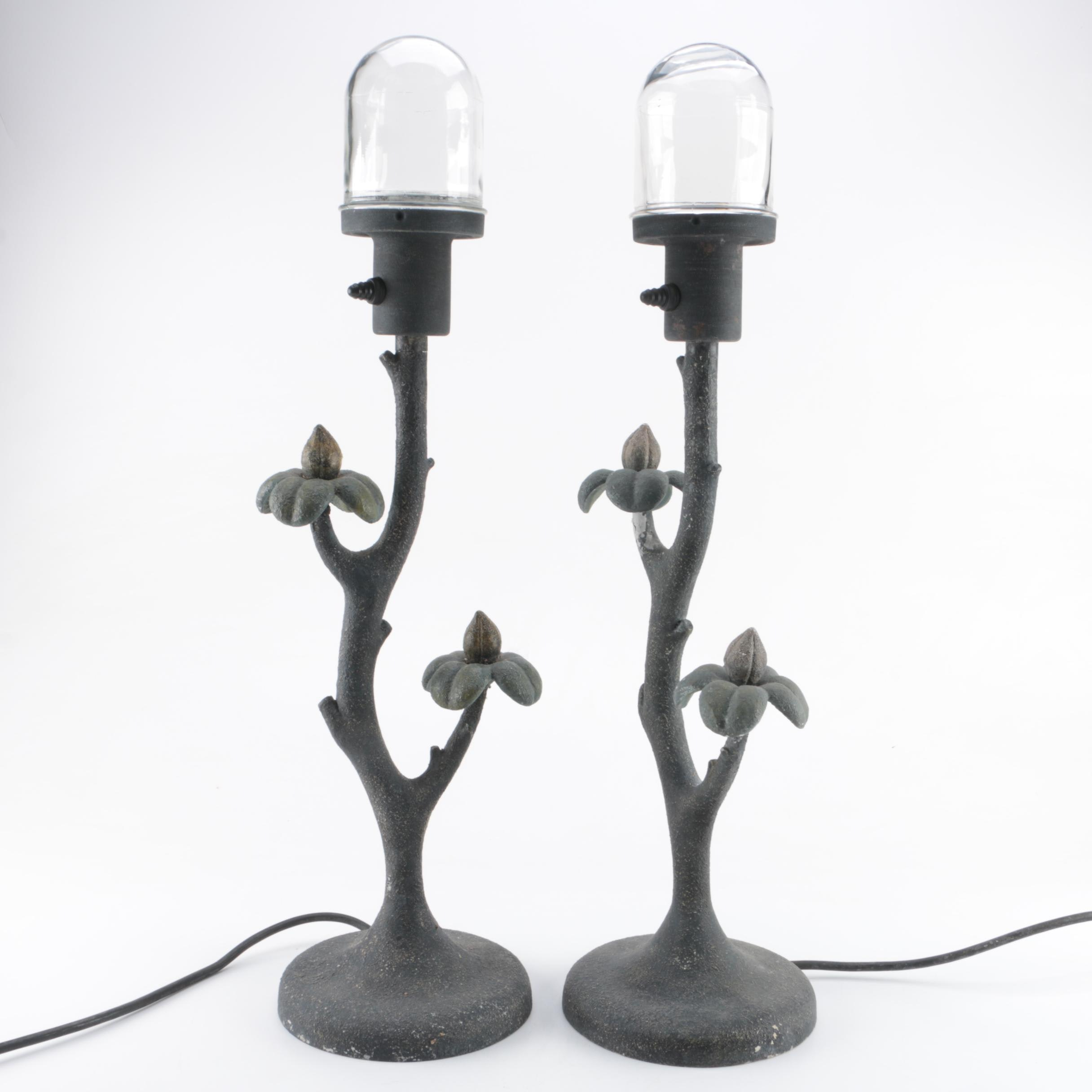 Pair of Metal Accent Lamps