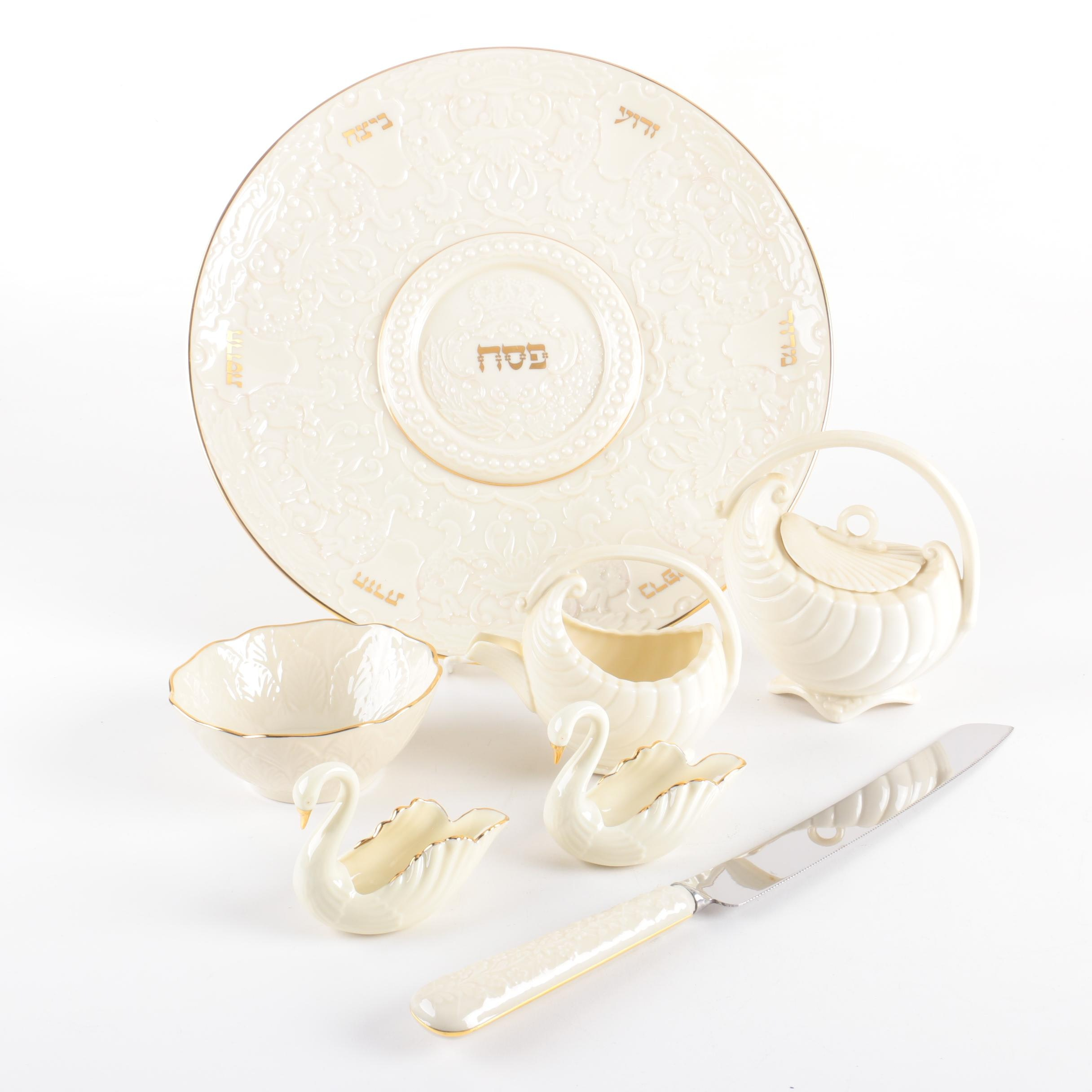 "Lenox ""The Seder Plate"" and Other Serveware"