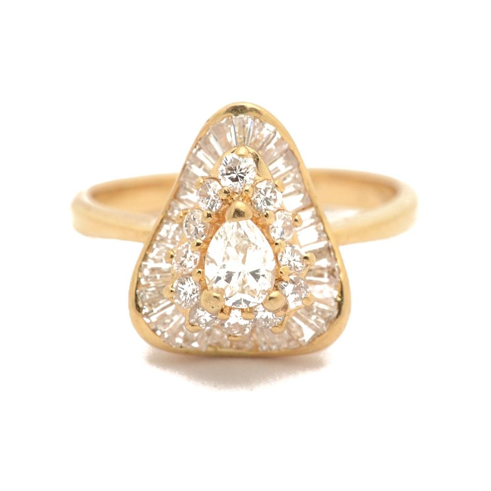18K Yellow Gold 1.45 CTW Diamond Ring