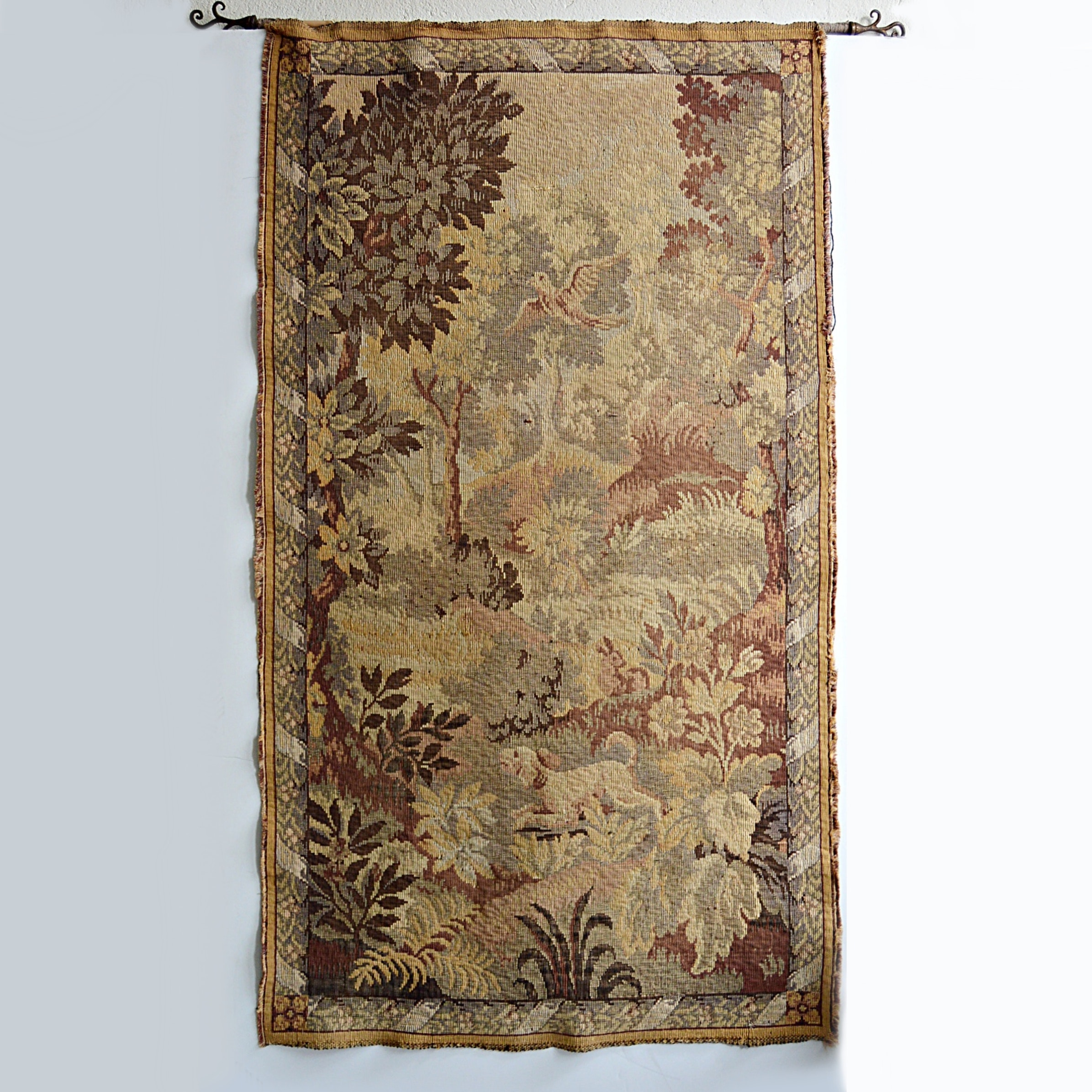 Late 19th-Early 20th Century French Woven Wall Tapestry