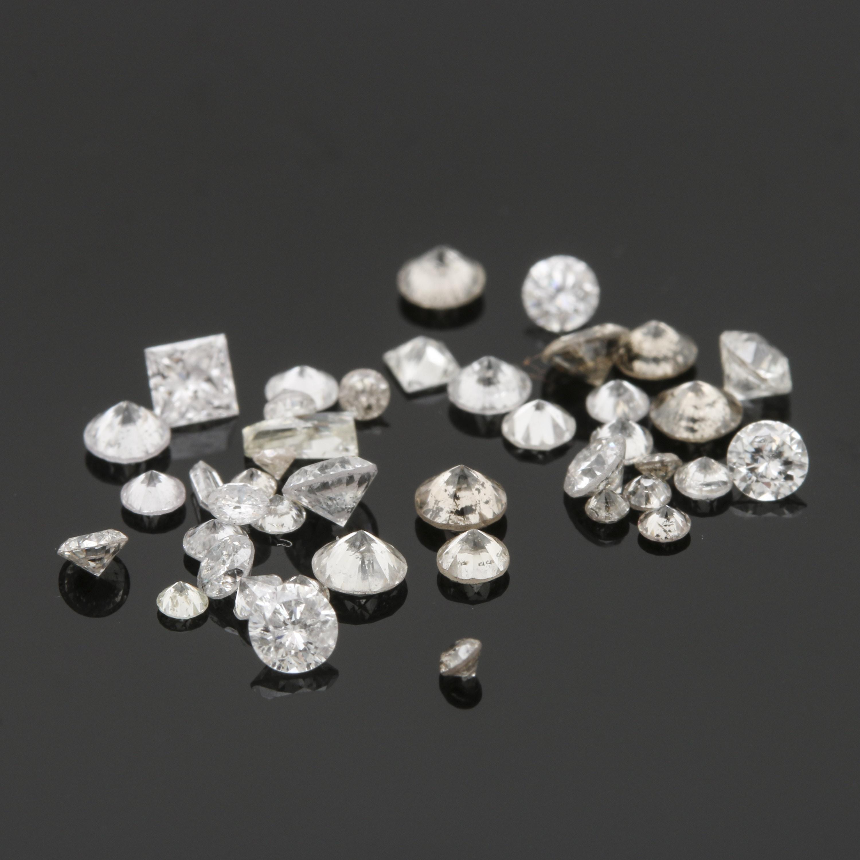 Loose 1.66 CTW Diamond Stones