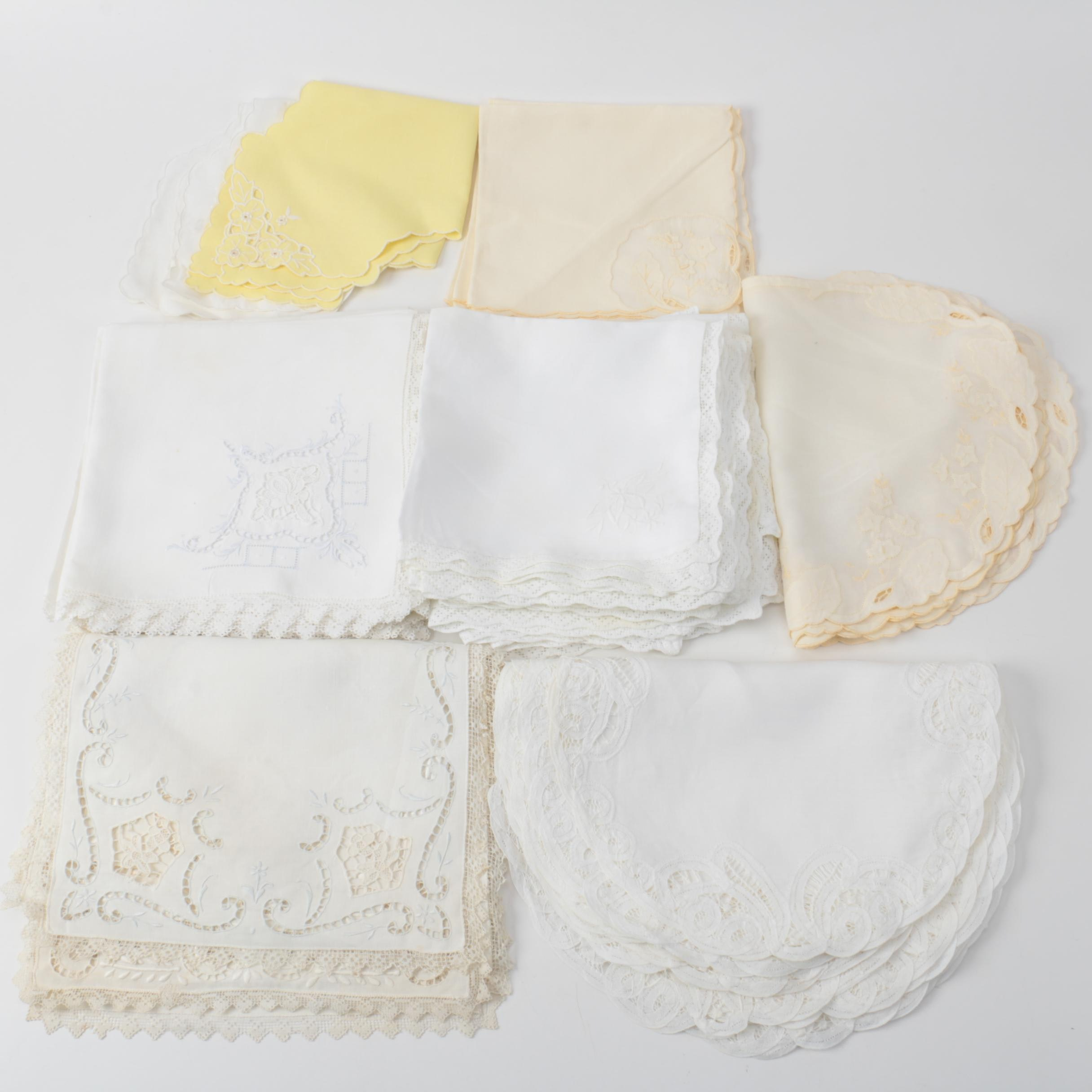 Vintage Cotton and Linen Table Linens