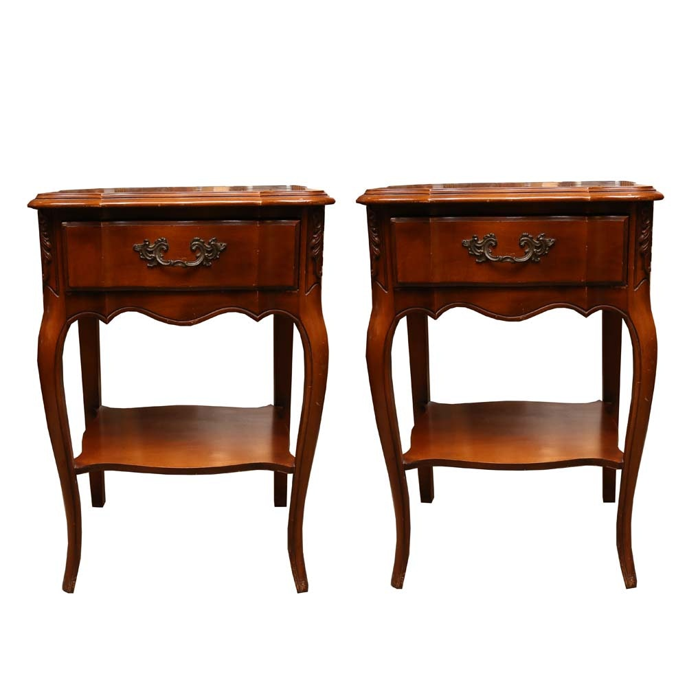 Vintage French Provincial Style Nightstands