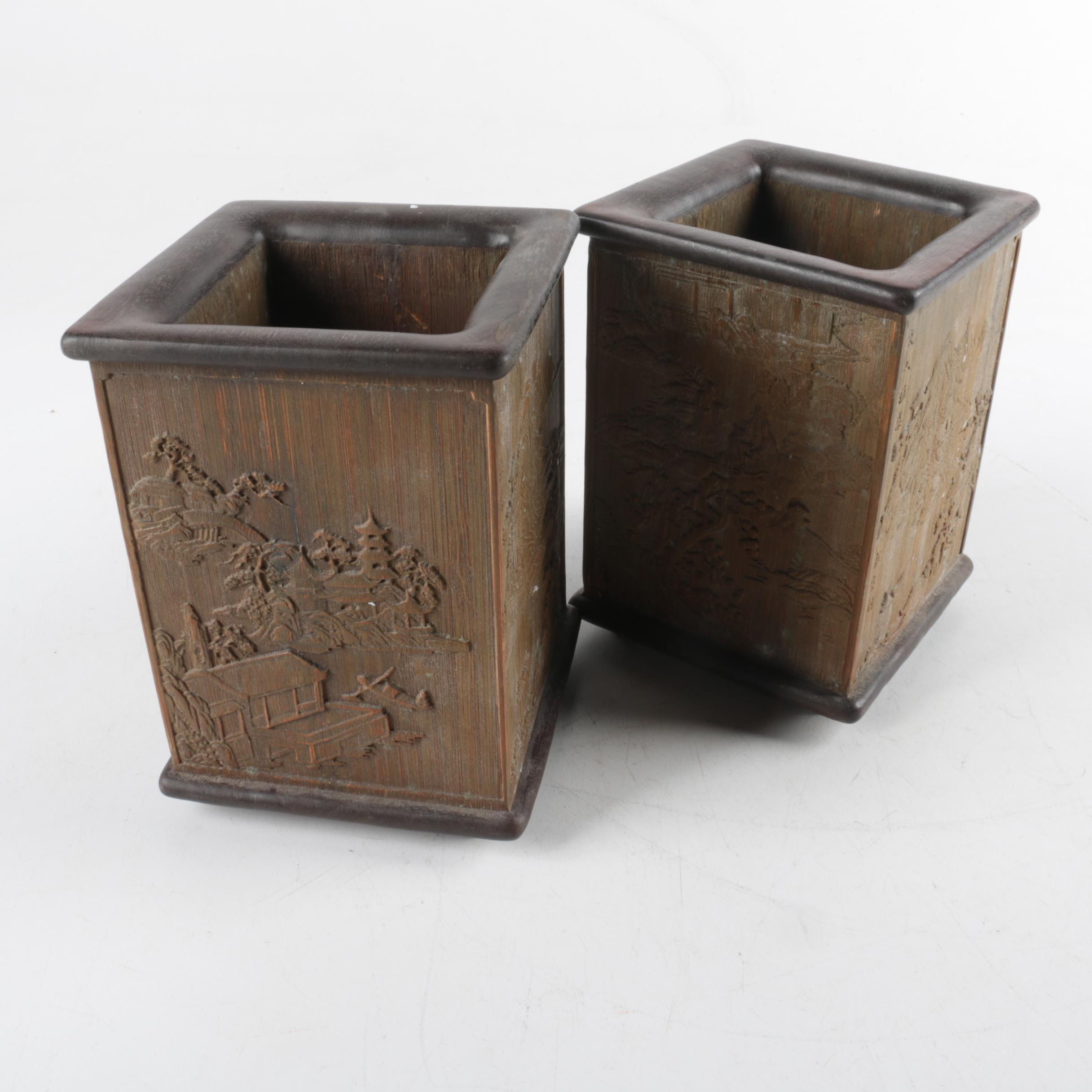 Chinese Wooden Planters
