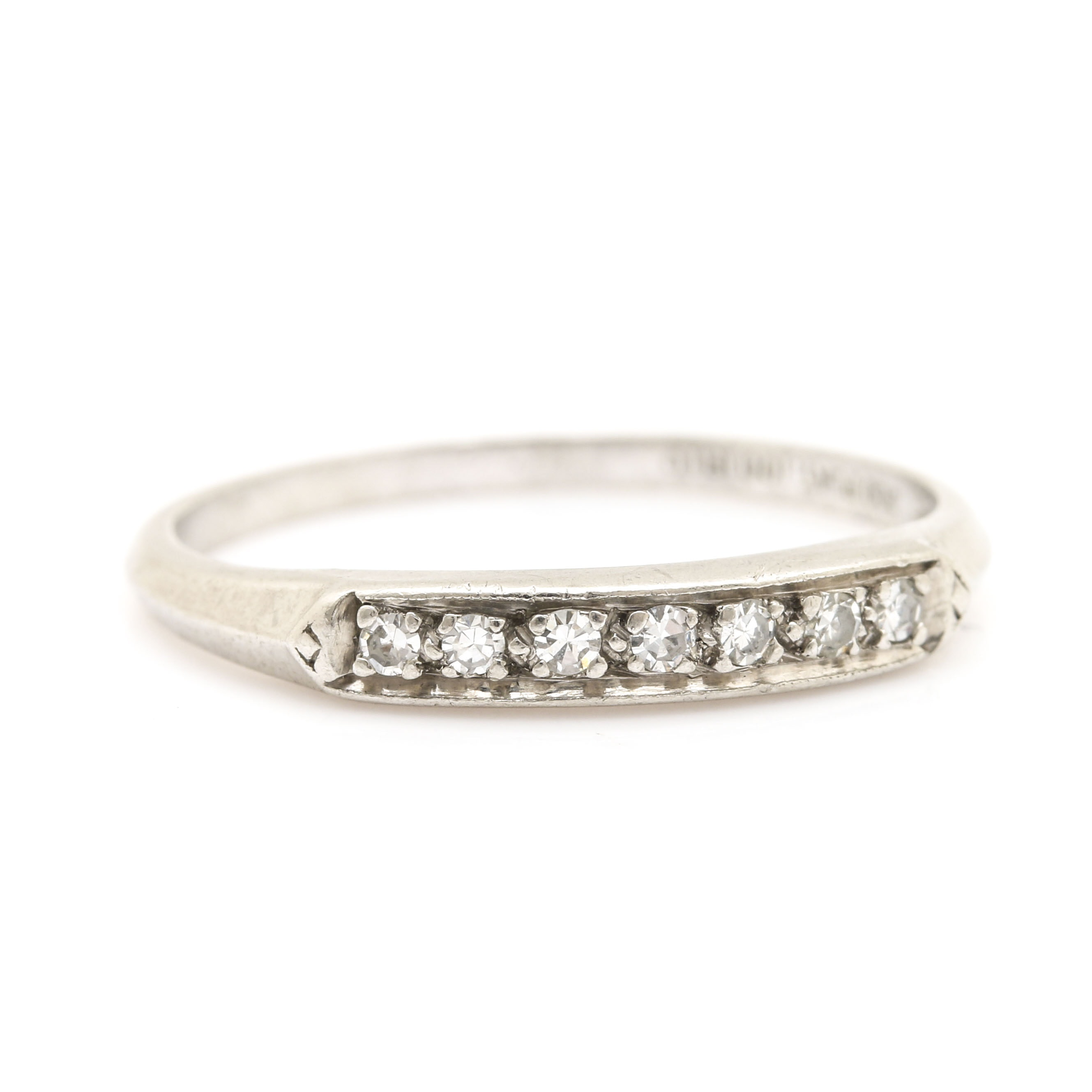 Platinum Diamond Ring Band