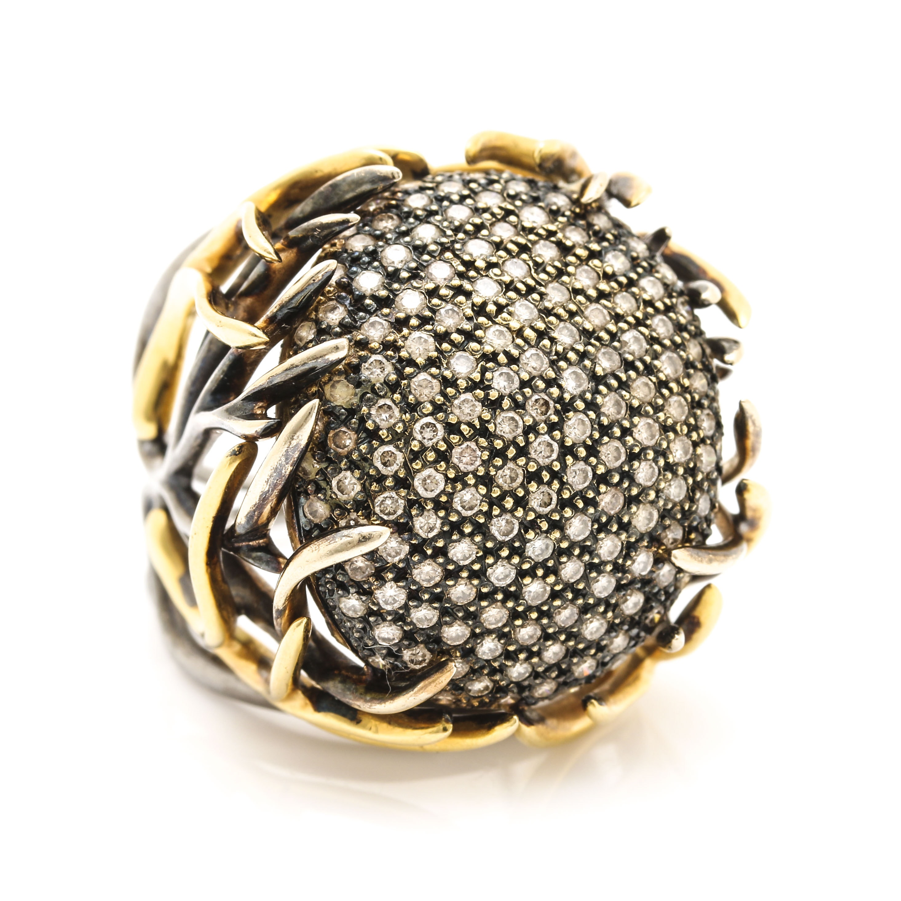 Huffy Jewelry 18K Yellow Gold 1.85 CTW Diamond Jugenstijl Collection Ring
