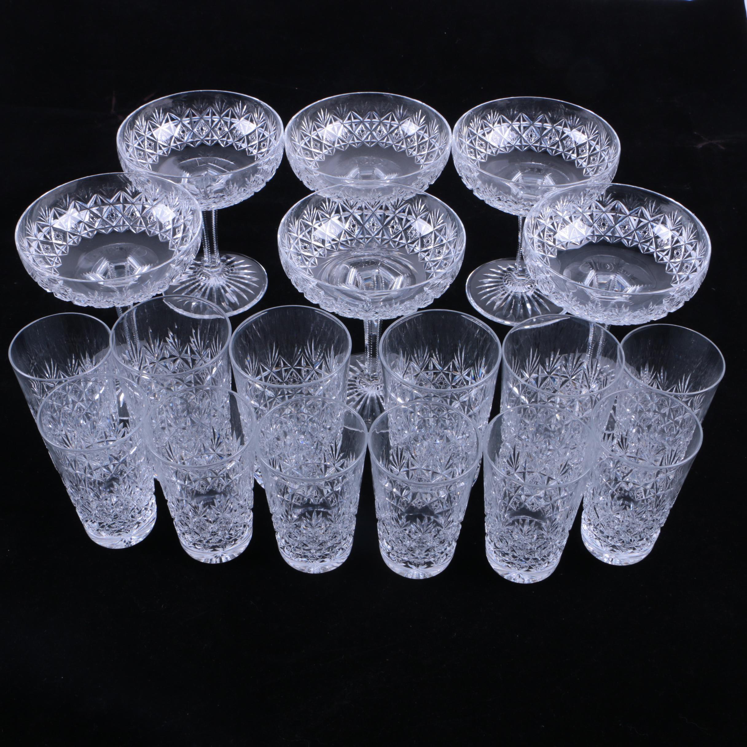 "Thomas Webb ""Wellington""  Cut Crystal Glassware"