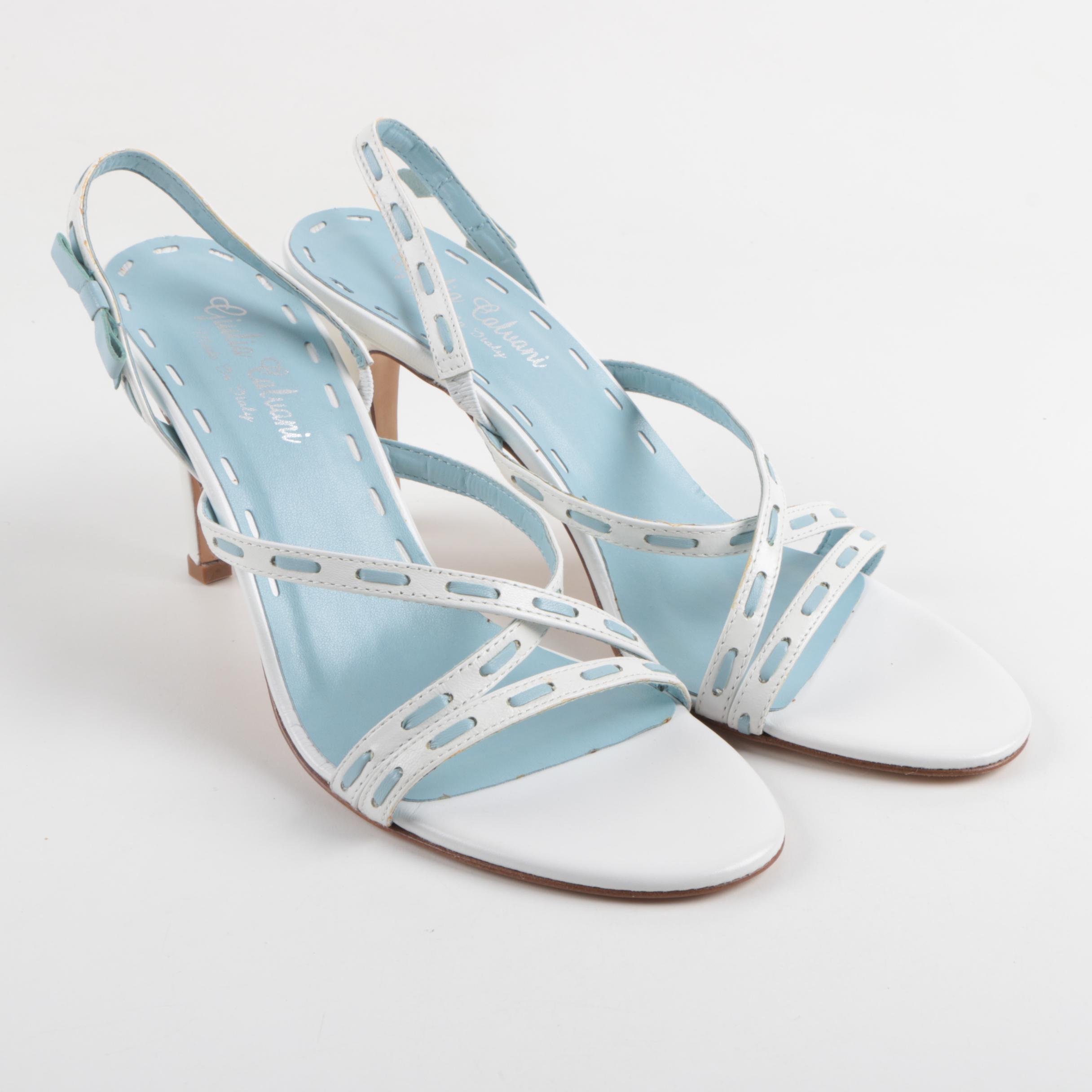 Giulia Calvani Strappy Slingback Heels