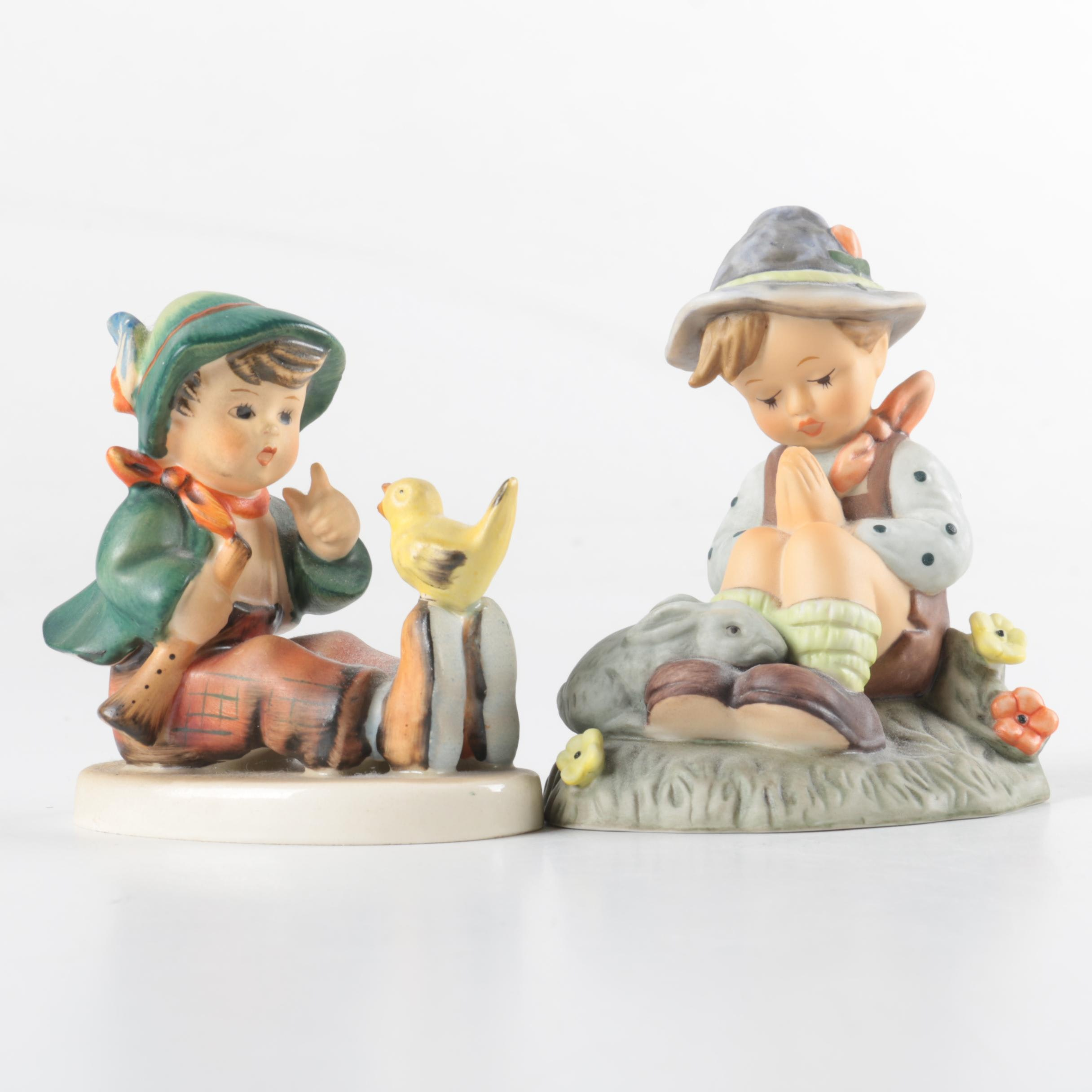 "Hummel and Goebel ""Singing Lessons"" and ""Nature's Prayer"" Figurines"