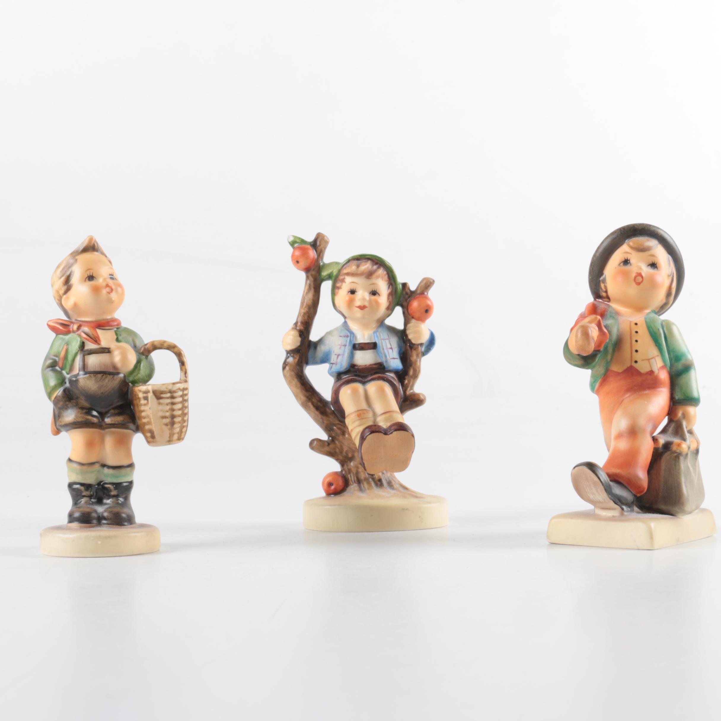 "Vintage Hummel and Goebel Figurines Including ""Apple Tree Boy"""