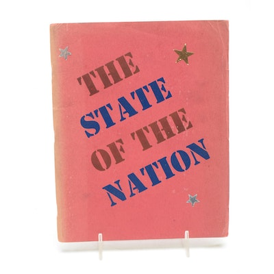 """Saroyan, Kees, Lowry etc. Signed """"State of the Nation"""" 1940"""