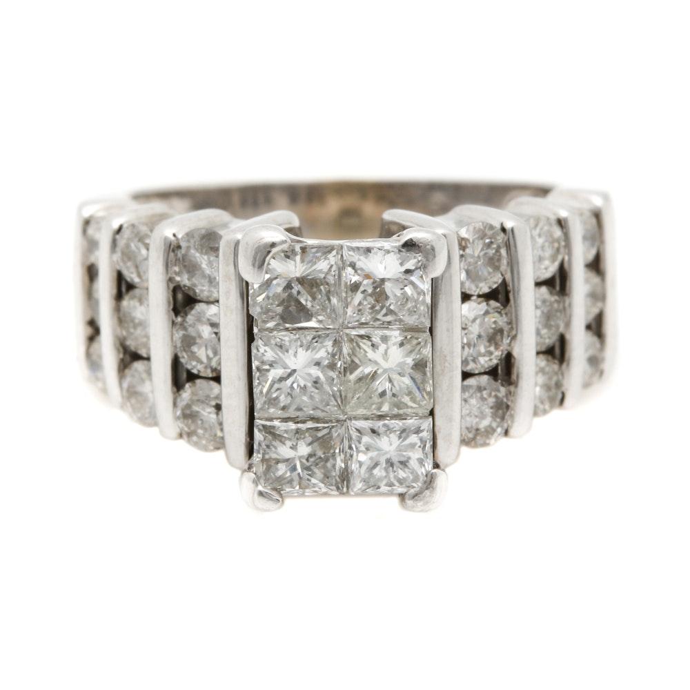 14K White Gold 2.01 CTW Diamond Ring