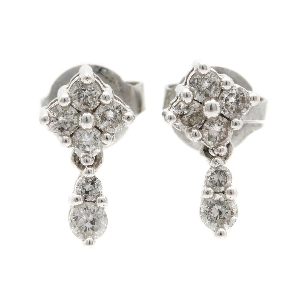 Alwand Vahan 14K White Gold Diamond Earrings