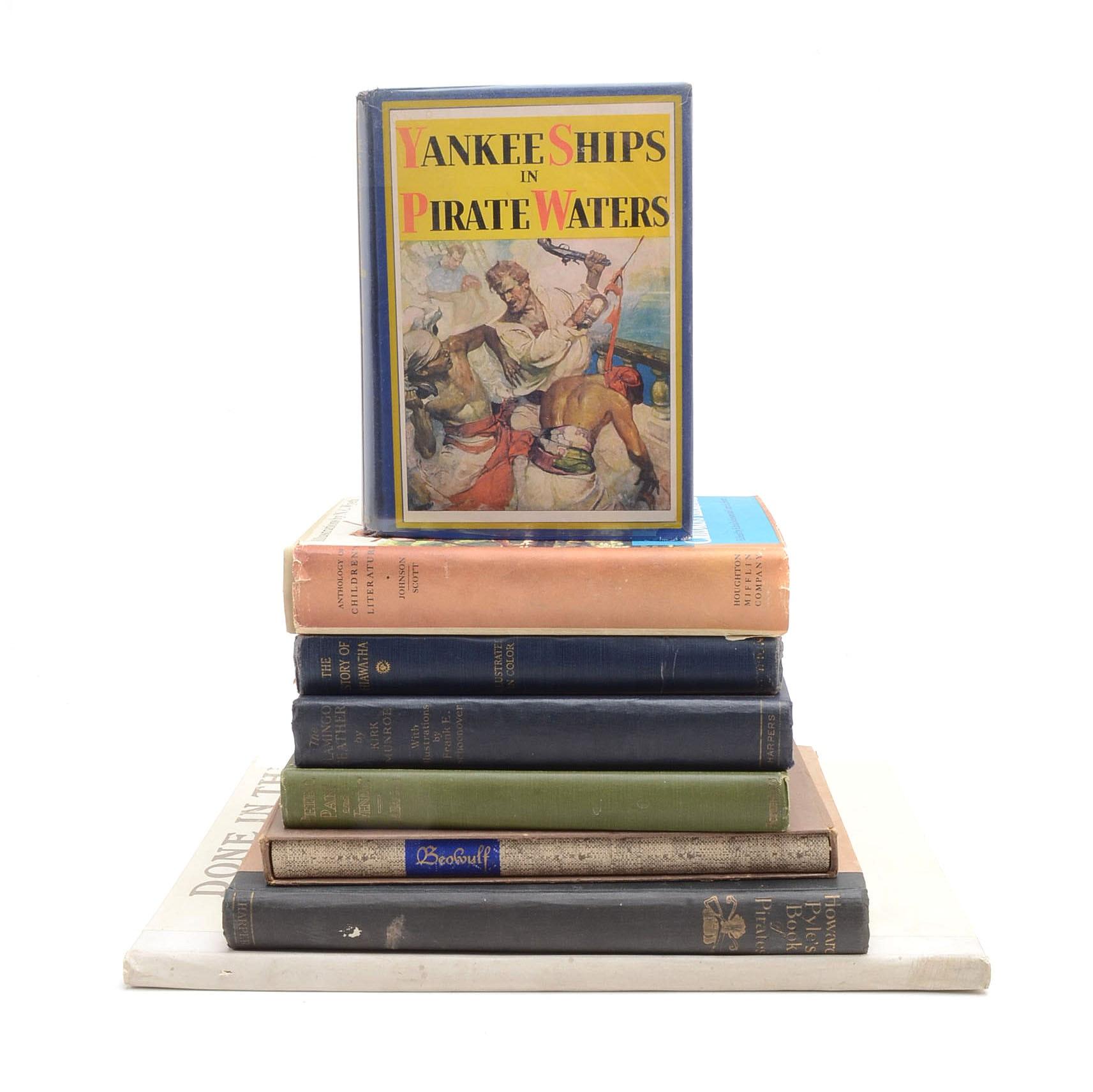 Group of Vintage Illustrated Children's Books