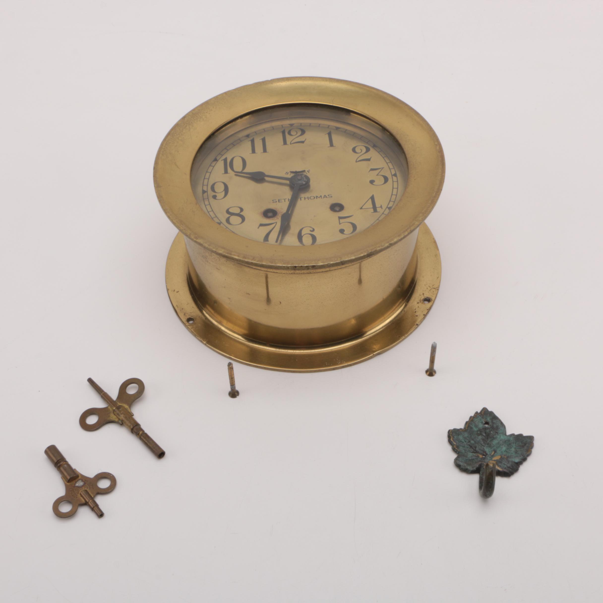 "Vintage Seth Thomas ""Mayflower 3"" Nautical Clock"