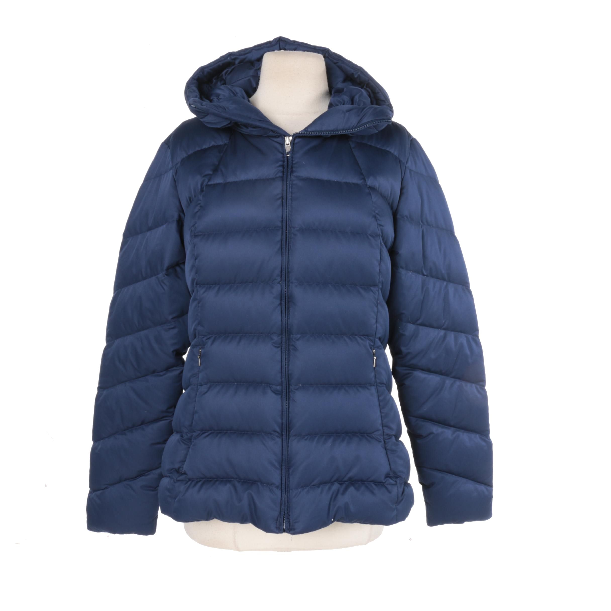Women's Patagonia Navy Blue Puffer Coat
