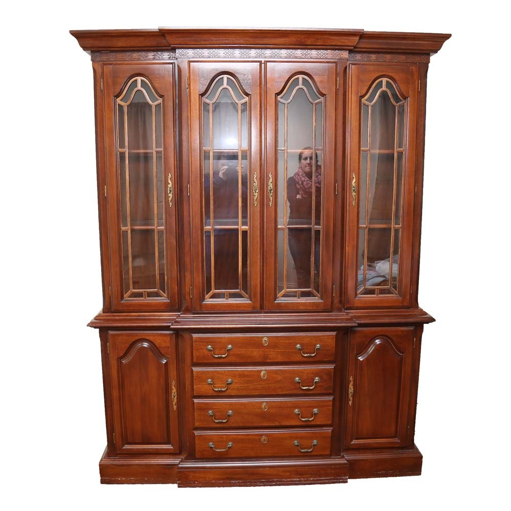 Solid Wood Breakfront China Cabinet by Kincaid