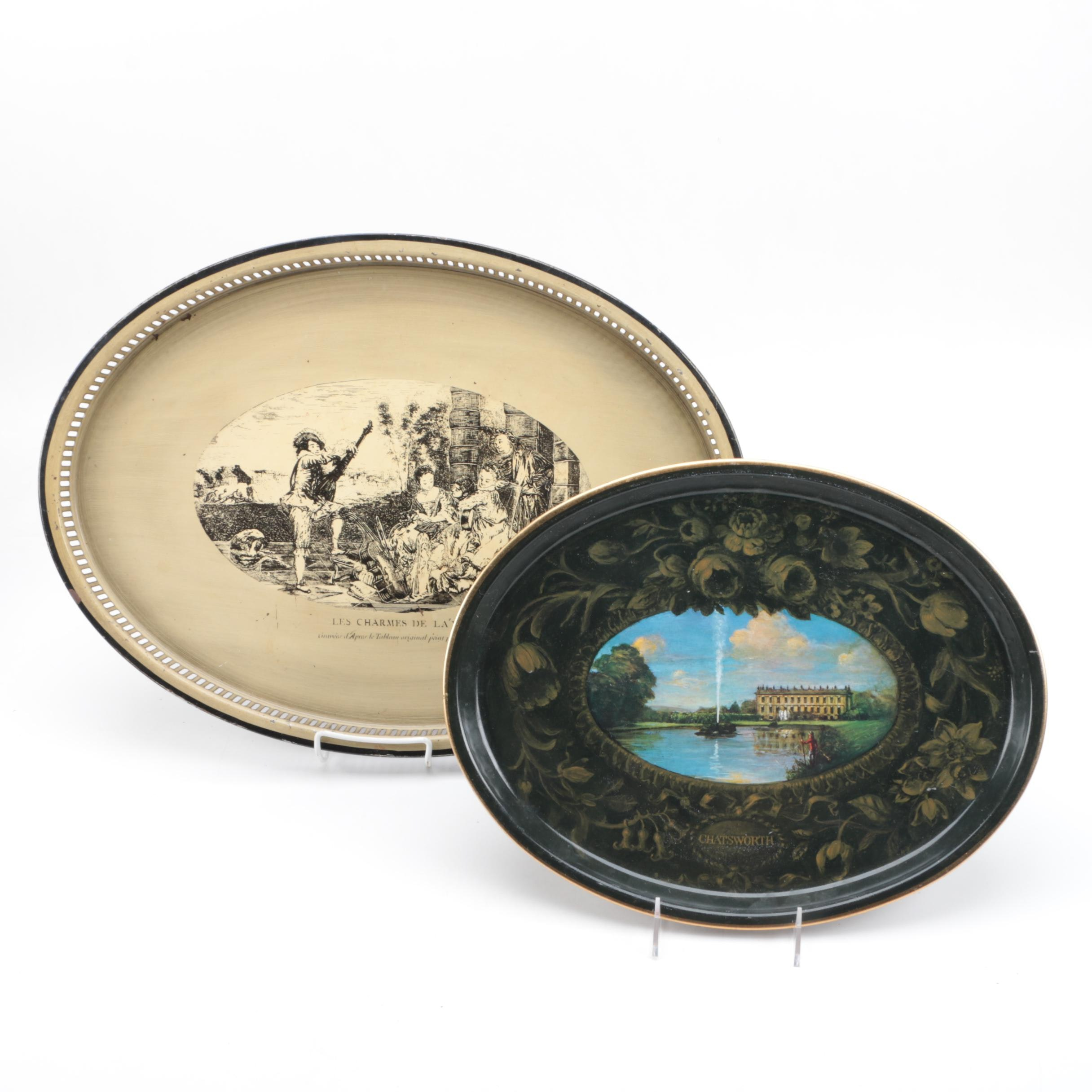 Pairing of Decorative Metal Serving Trays