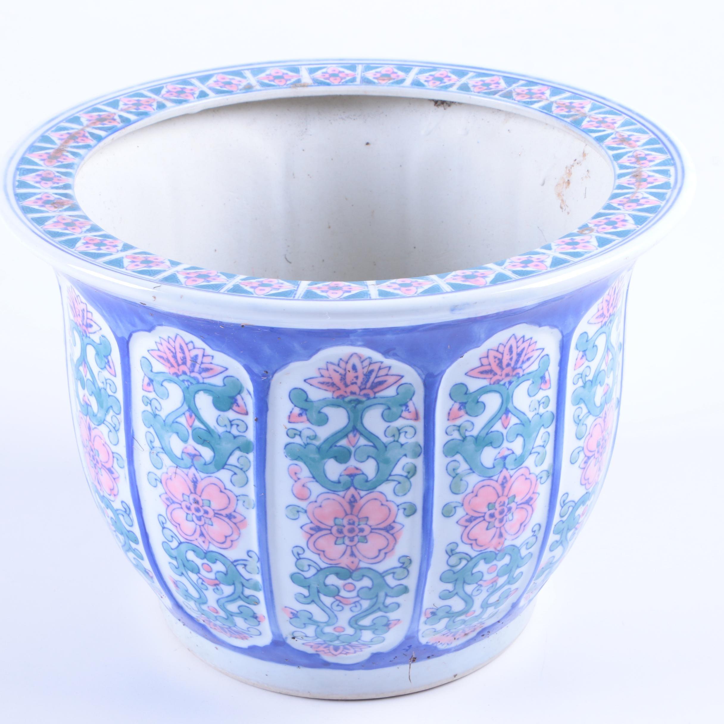 Floral Ceramic Planter