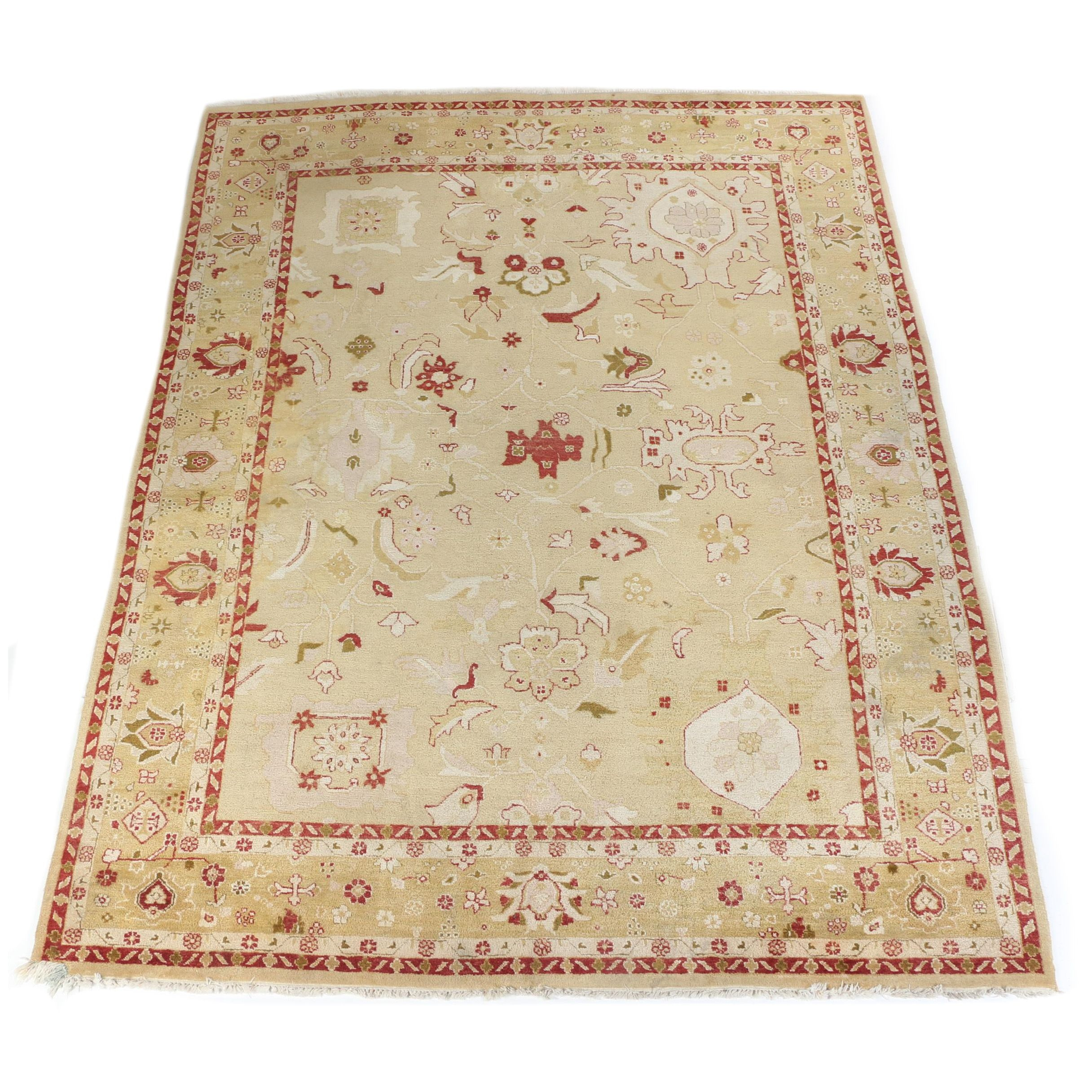 Hand-Knotted Persian Teaching Rug