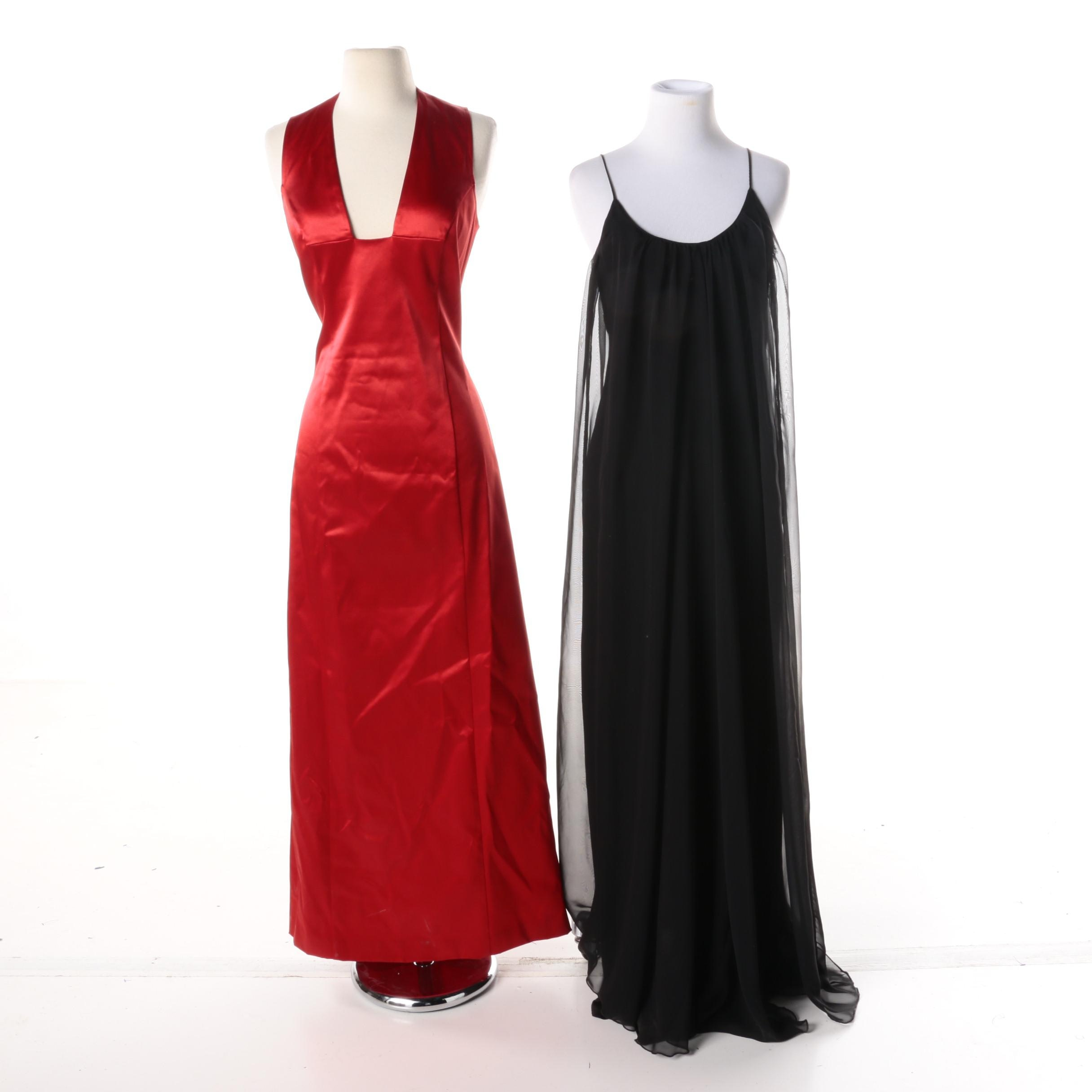 Women's Formal Sleeveless Gowns Including Maria Bianca Nero