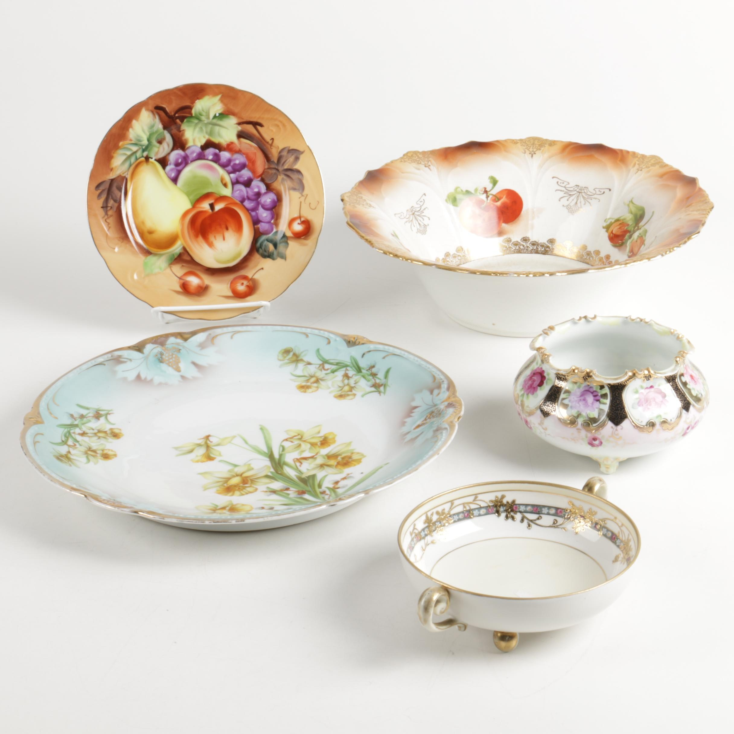 Assorted Porcelain including Lefton, Nippon and  P. K. Silesia