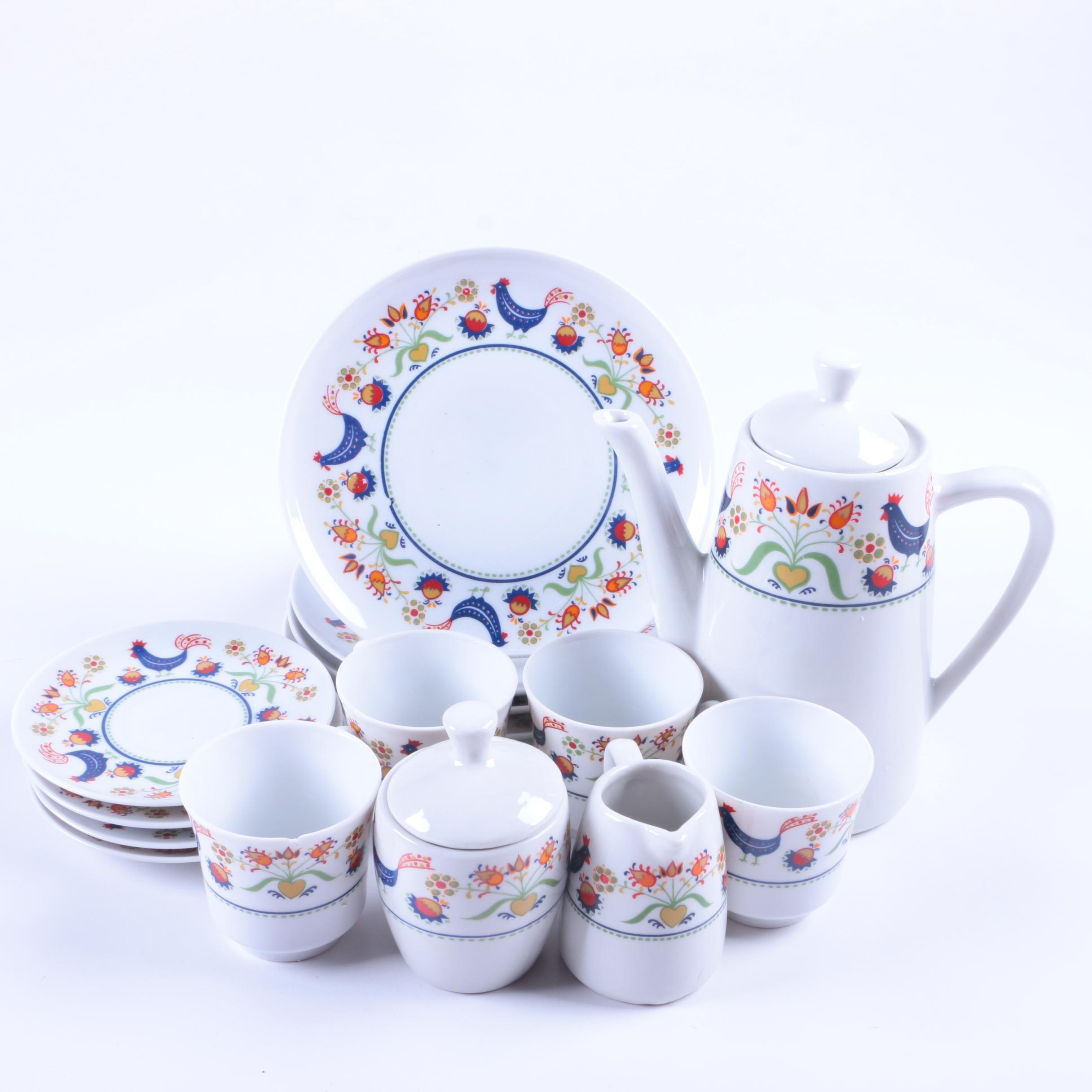 Mid Century Winterling Porcelain Coffee Service