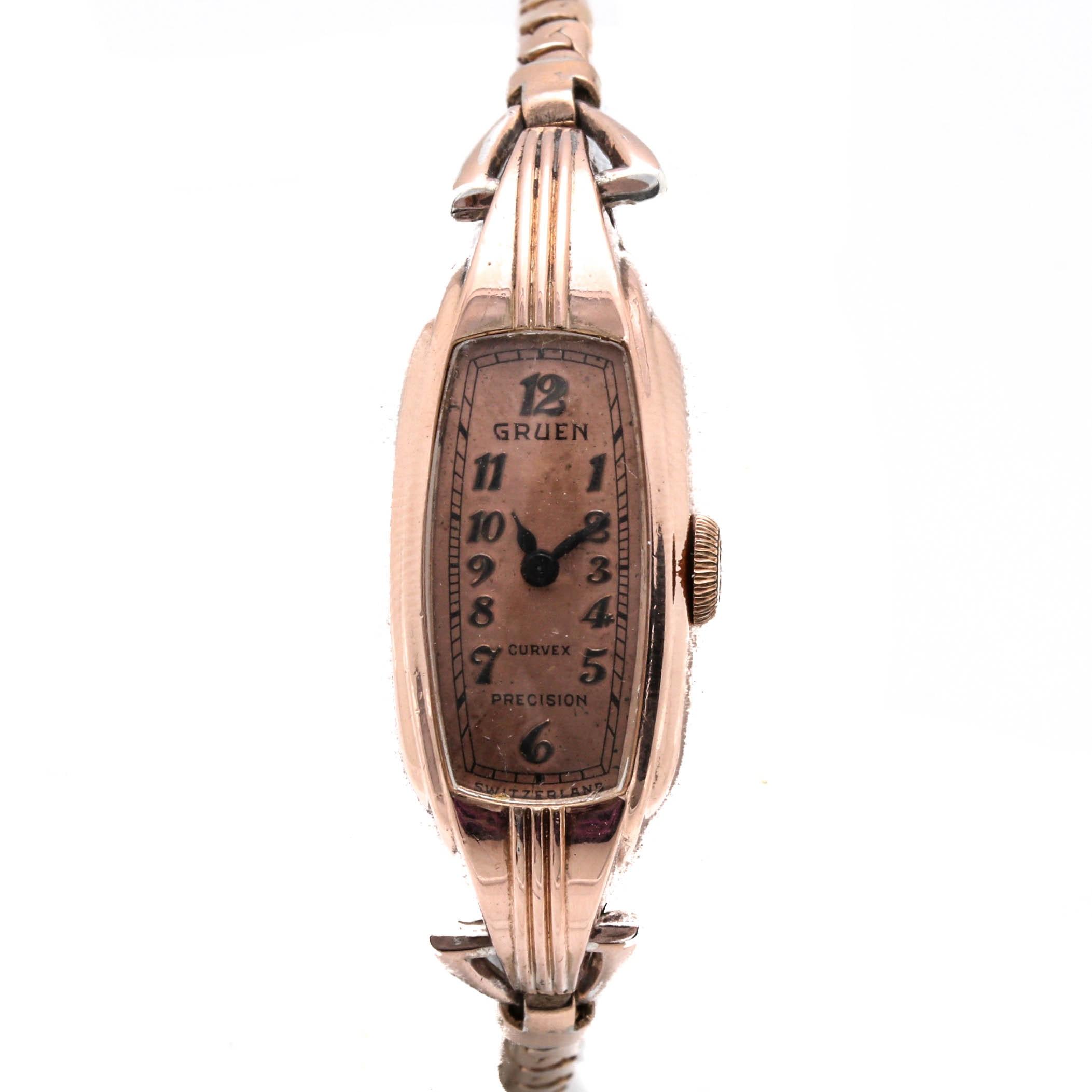 Gruen Curvex Gold Filled Wristwatch