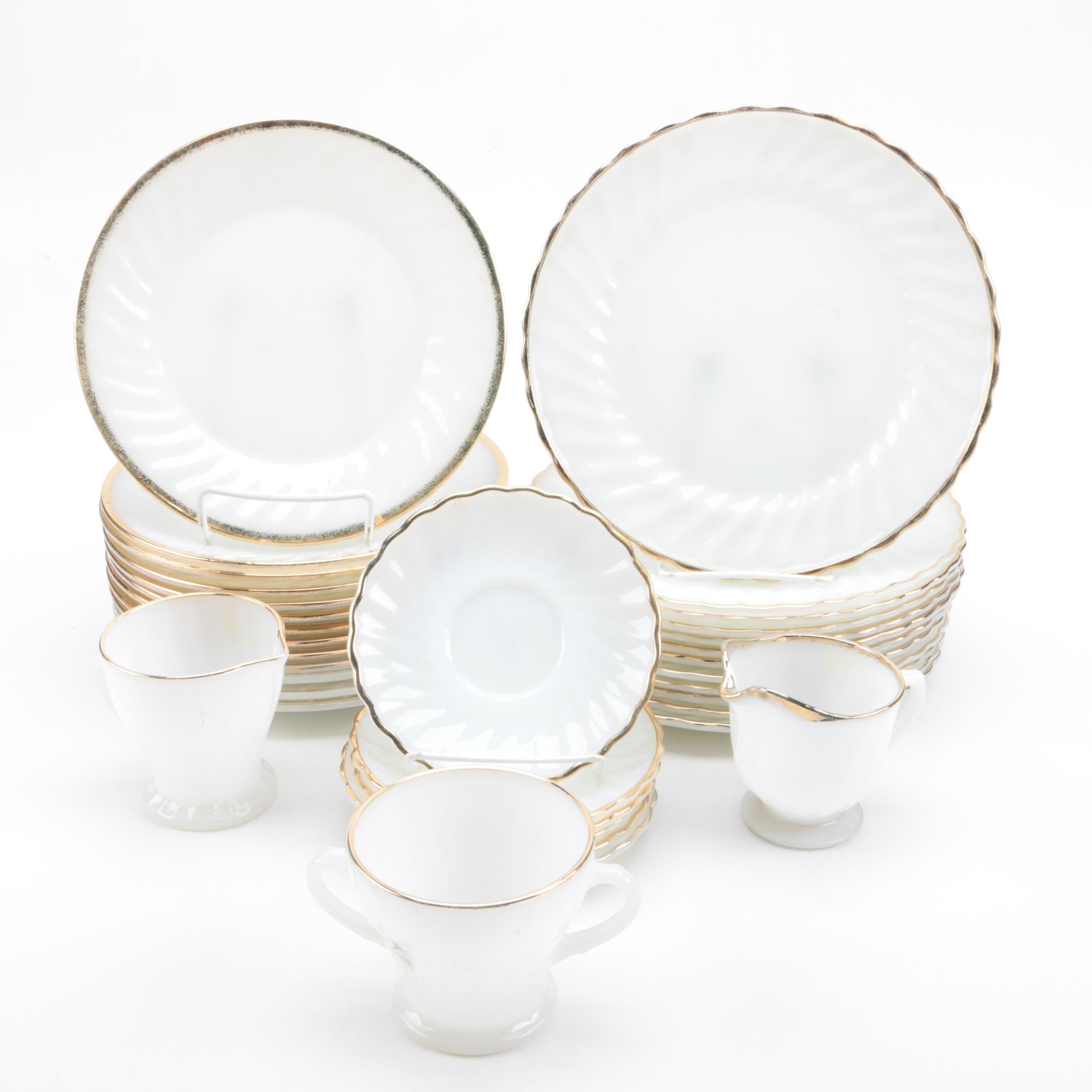 Fire-King Milk Glass Tableware