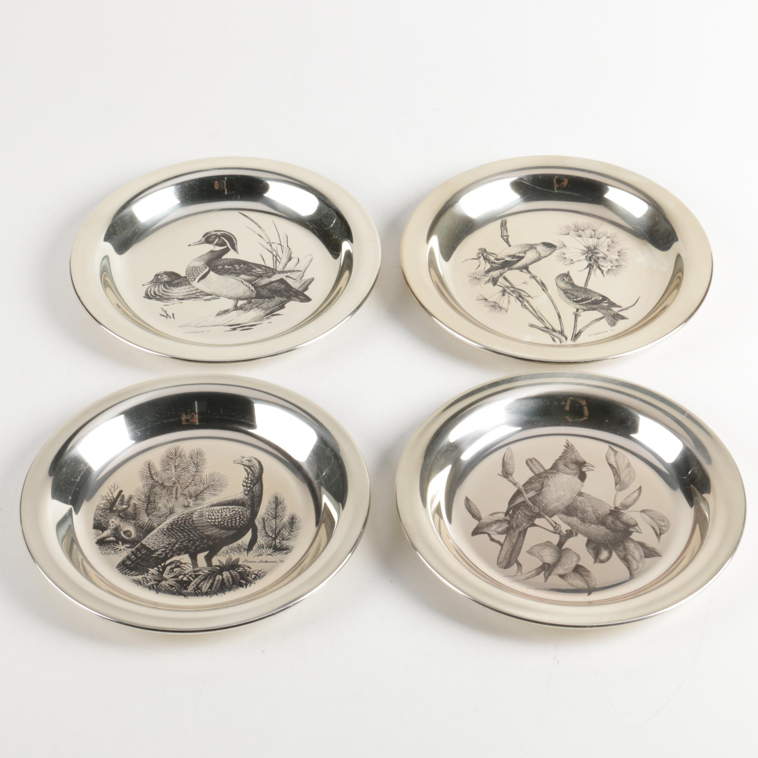 The National Audubon Society and Franklin Mint Sterling Silver Plates