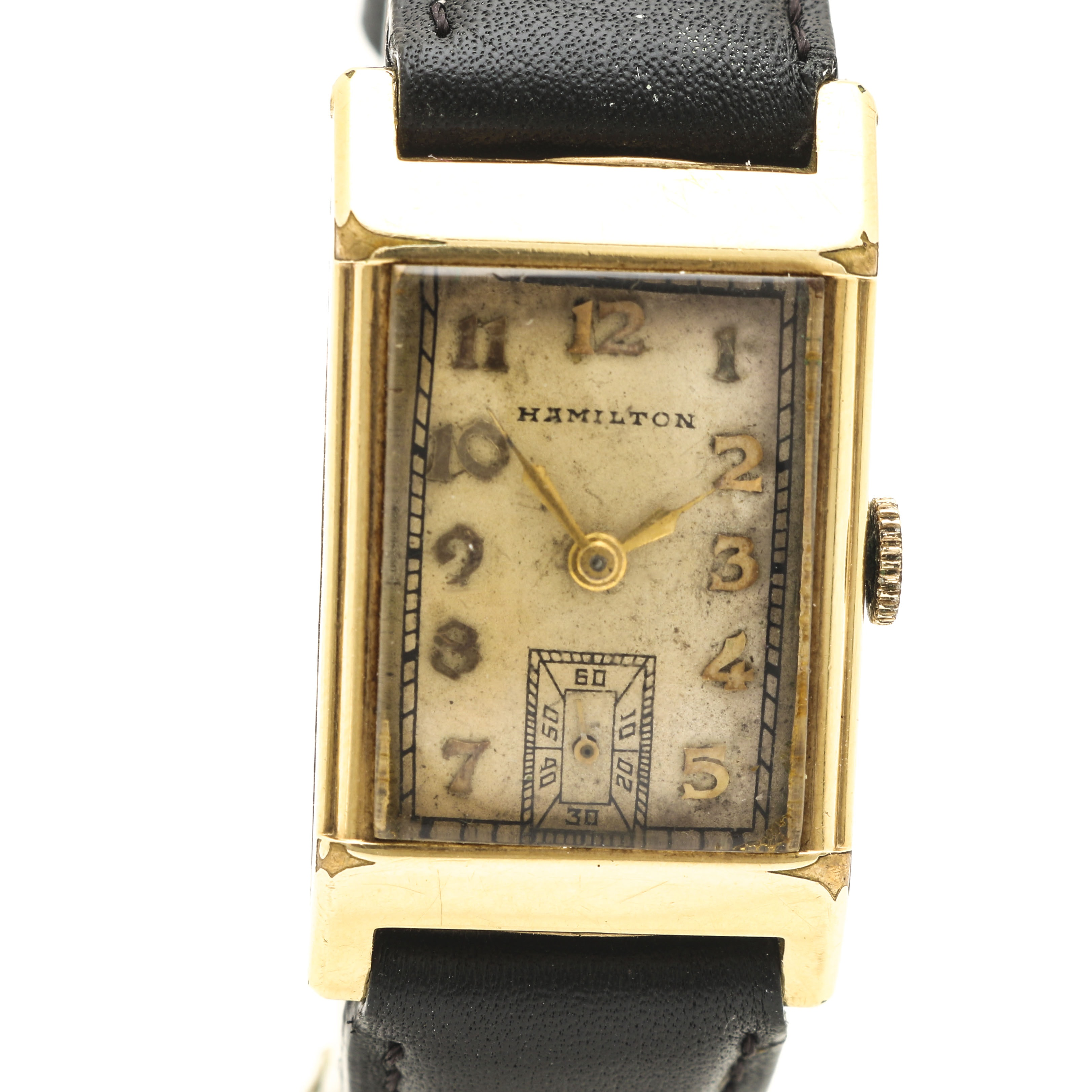 Hamilton Gold Filled Leather Wristwatch