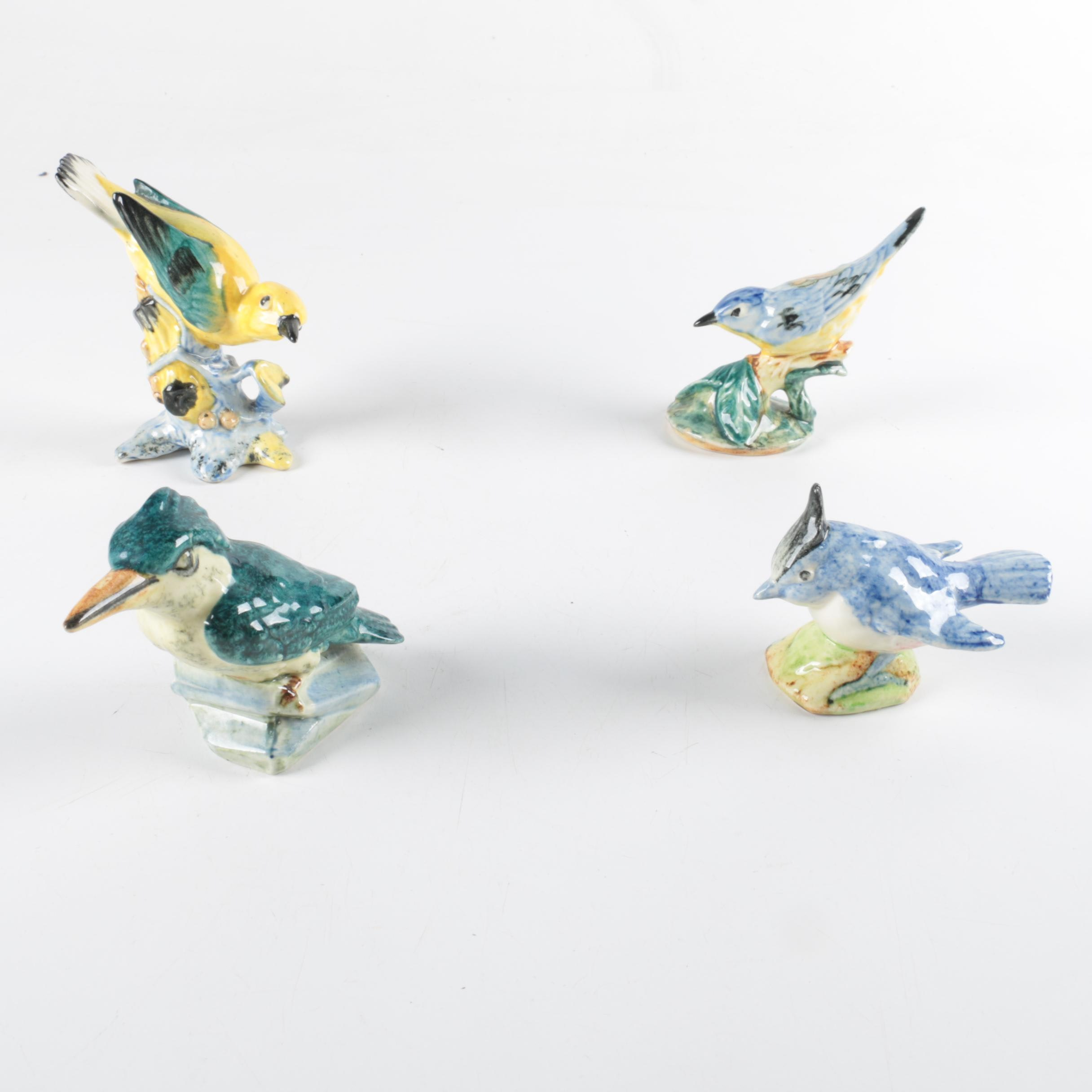 Colorful Ceramic Bird Figurines by Stangle and Others