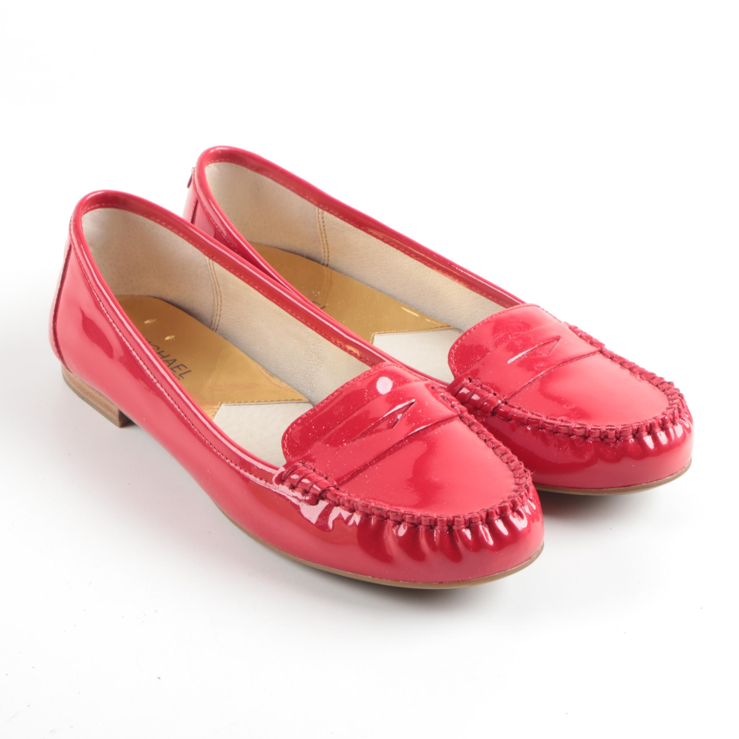 Women's MICHAEL Michael Kors Red Patent Leather Loafers