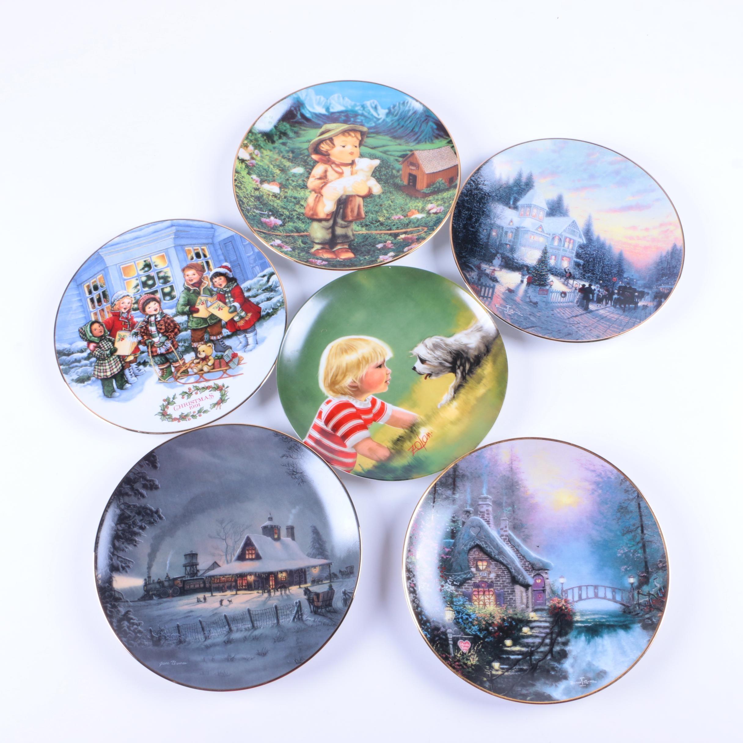Collectible Plates Including Hummel and Thomas Kinkade