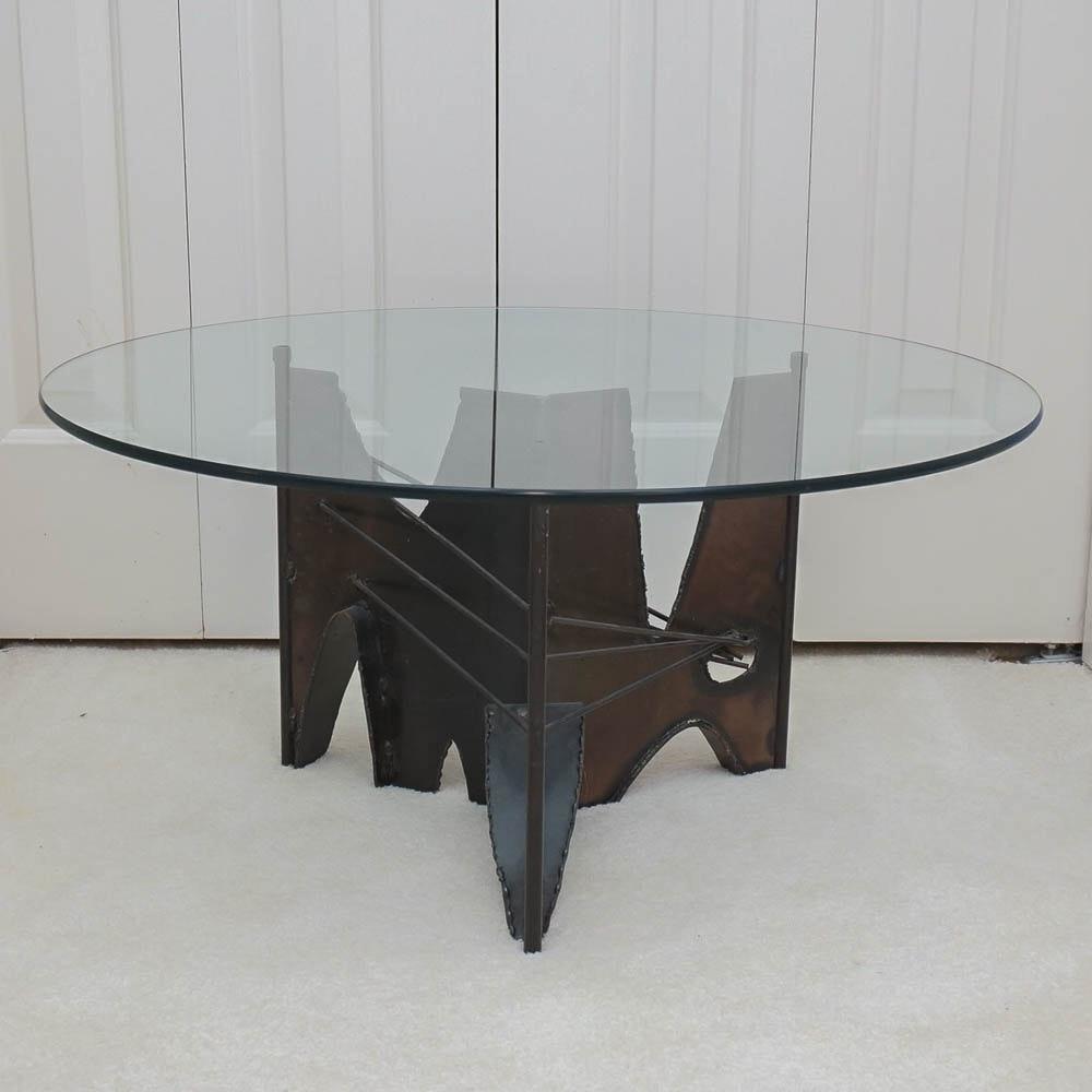 Brutalist Torch-Cut Metal Table