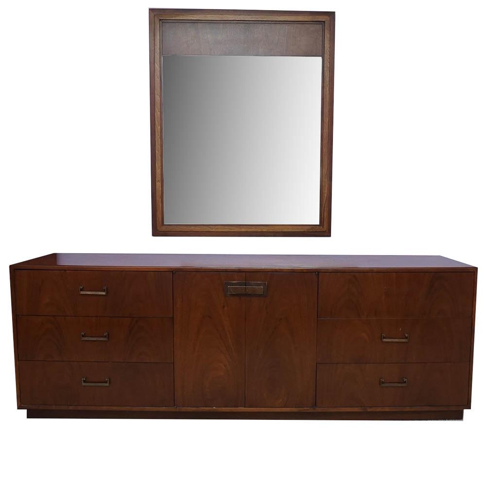 Vintage Mid Century Modern Dresser with Mirror