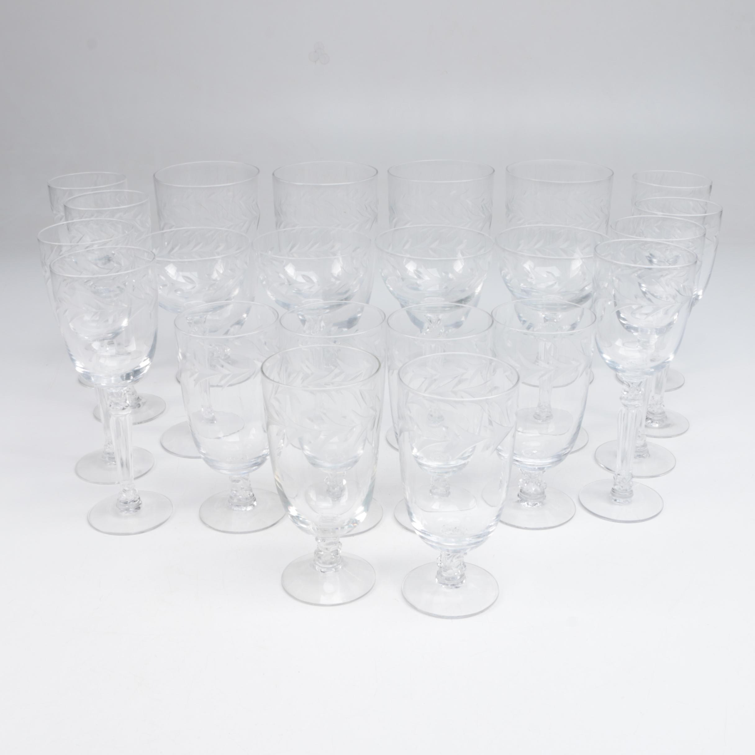"Fostoria ""Holly"" Stemmed Glassware, Circa 1942-1980"